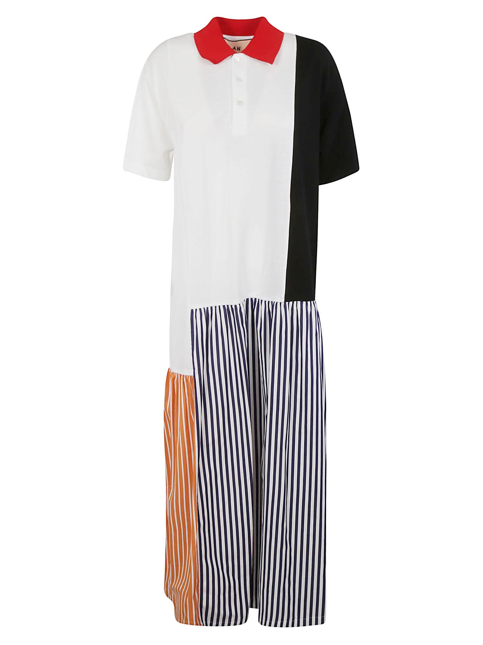 Buy Plan C Stripe Skirt Print Long Dress online, shop Plan C with free shipping