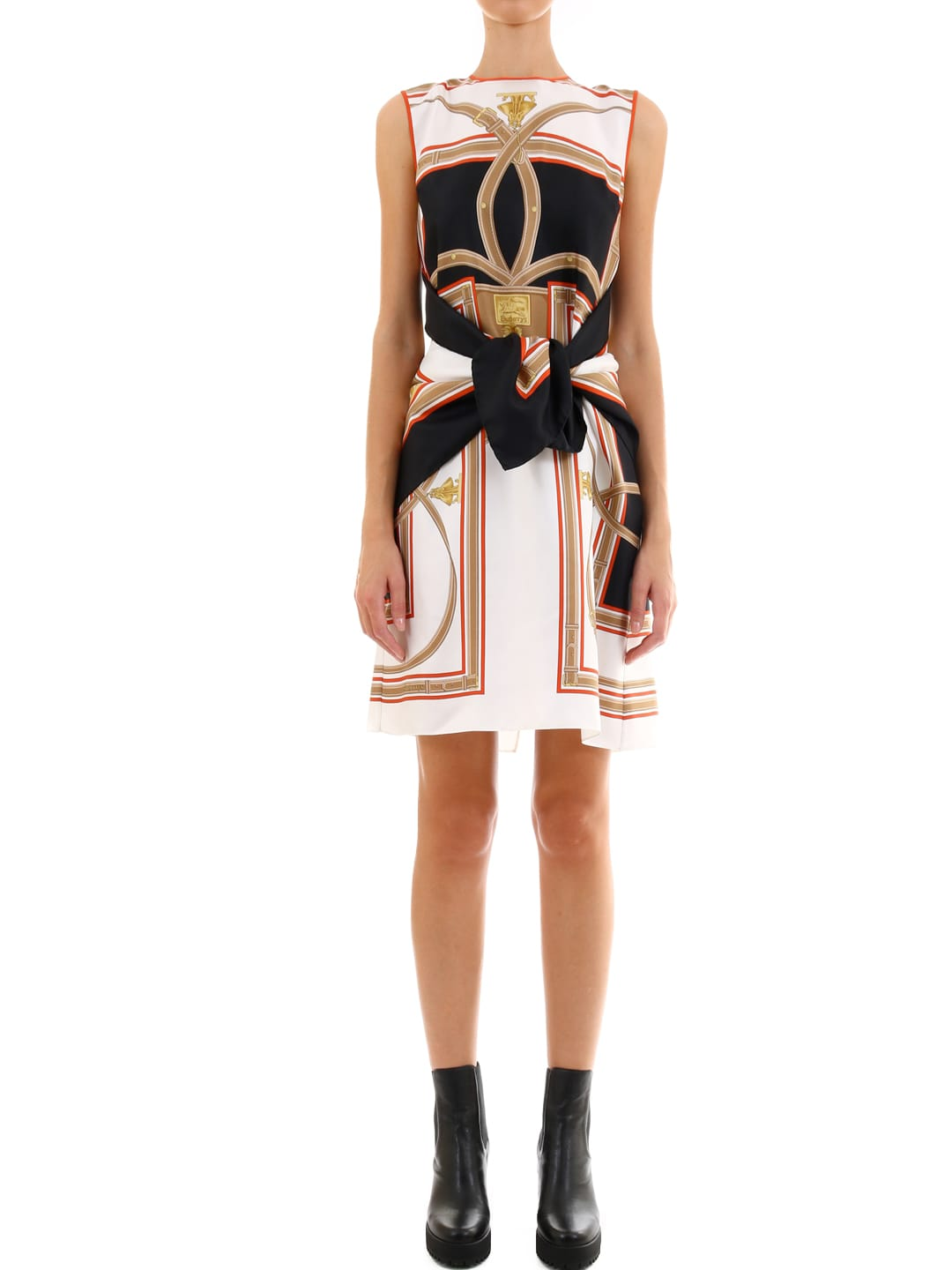 Burberry Silk Dress With Foulard