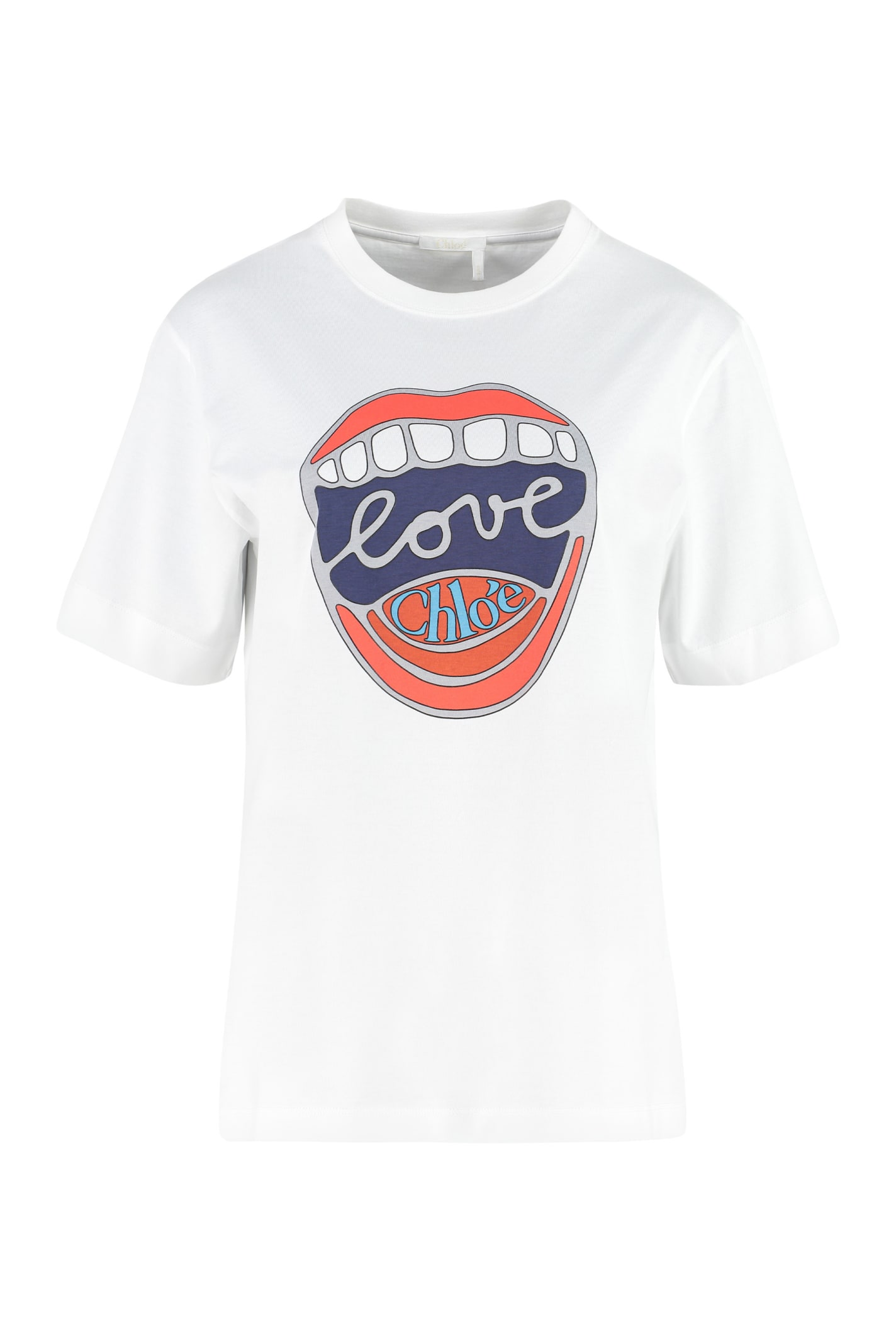Chloé Cottons COTTON CREW-NECK T-SHIRT