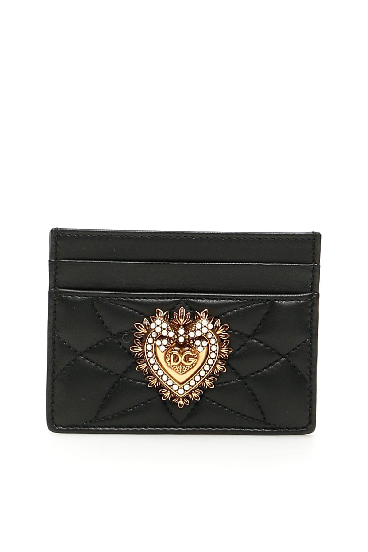 Dolce & Gabbana Cardholders DEVOTION LEATHER CARDHOLDER