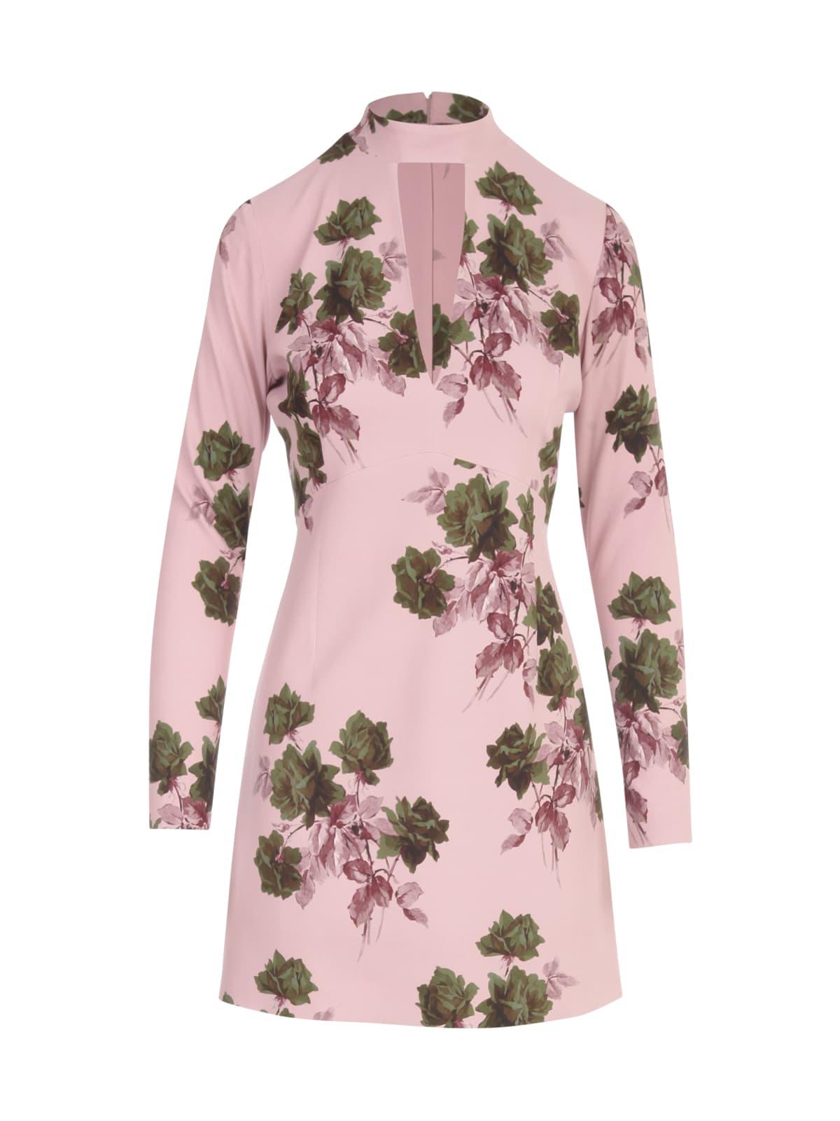 Buy Blumarine Roses Printing L/s Mini Dress online, shop Blumarine with free shipping
