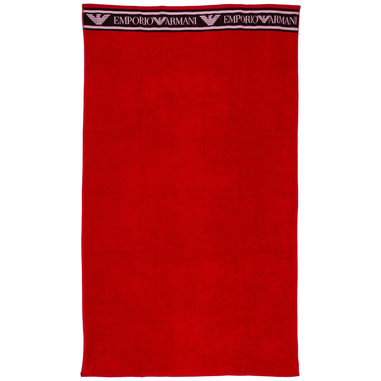 Emporio Armani Cottons LOVE PUFF BEACH TOWELS