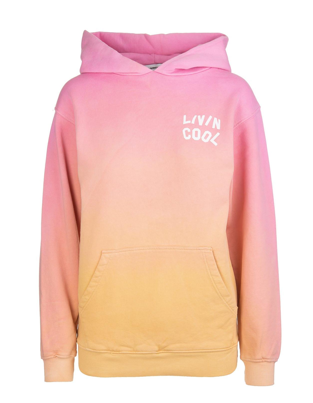 Woman Gradient Orange And Pink California Love Hoodie