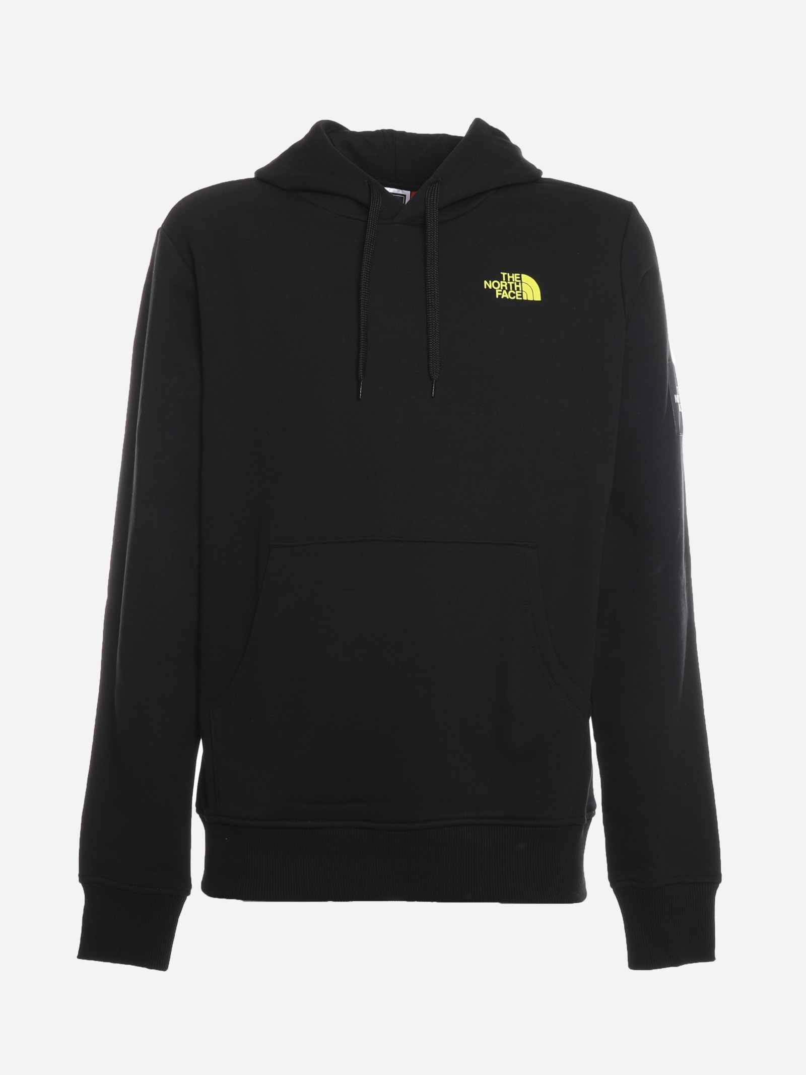 The North Face Cottons COTTON SWEATSHIRT WITH BLACK BOX PRINT