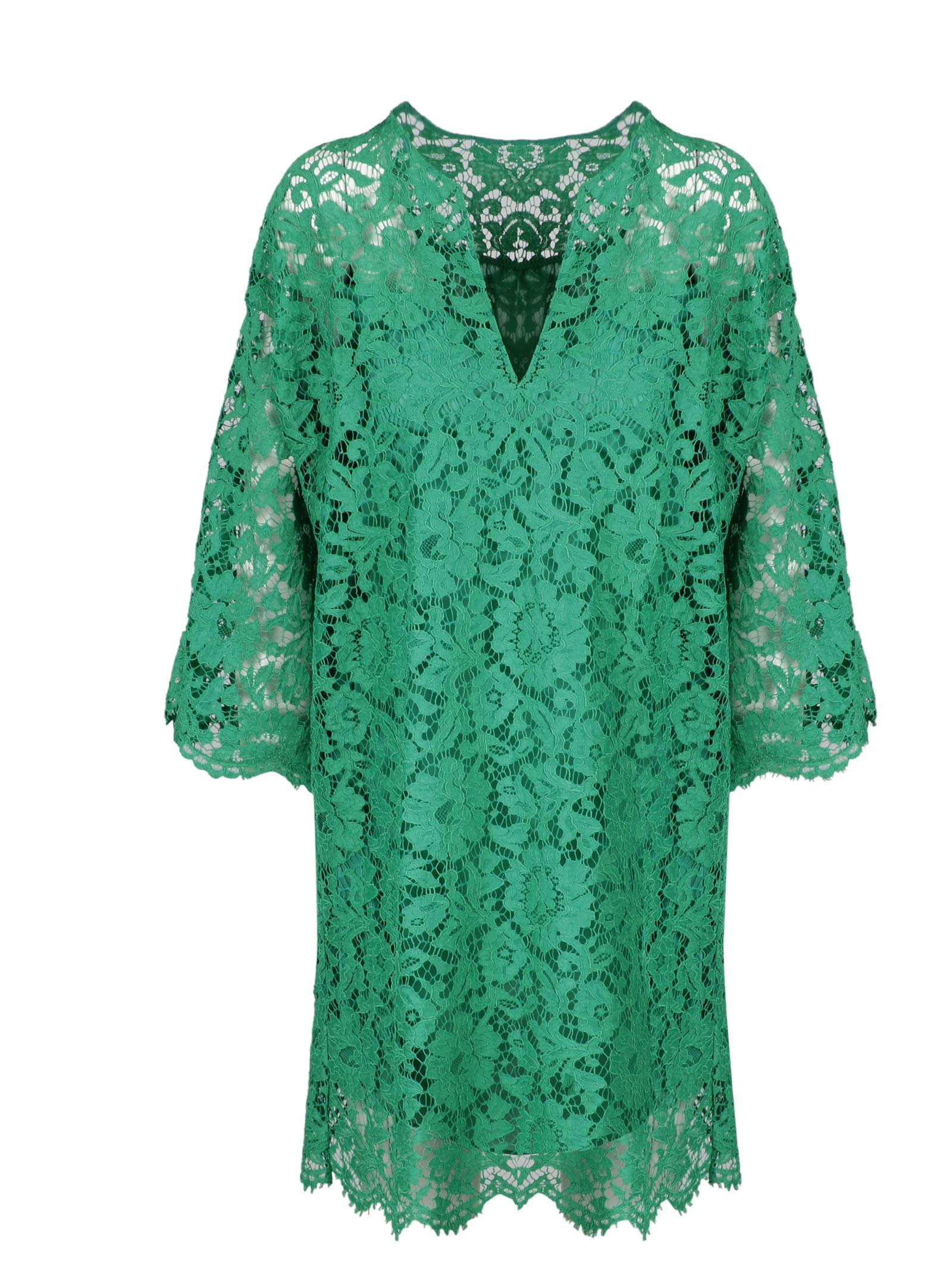Valentino Heavy Lace Kaftano Dress