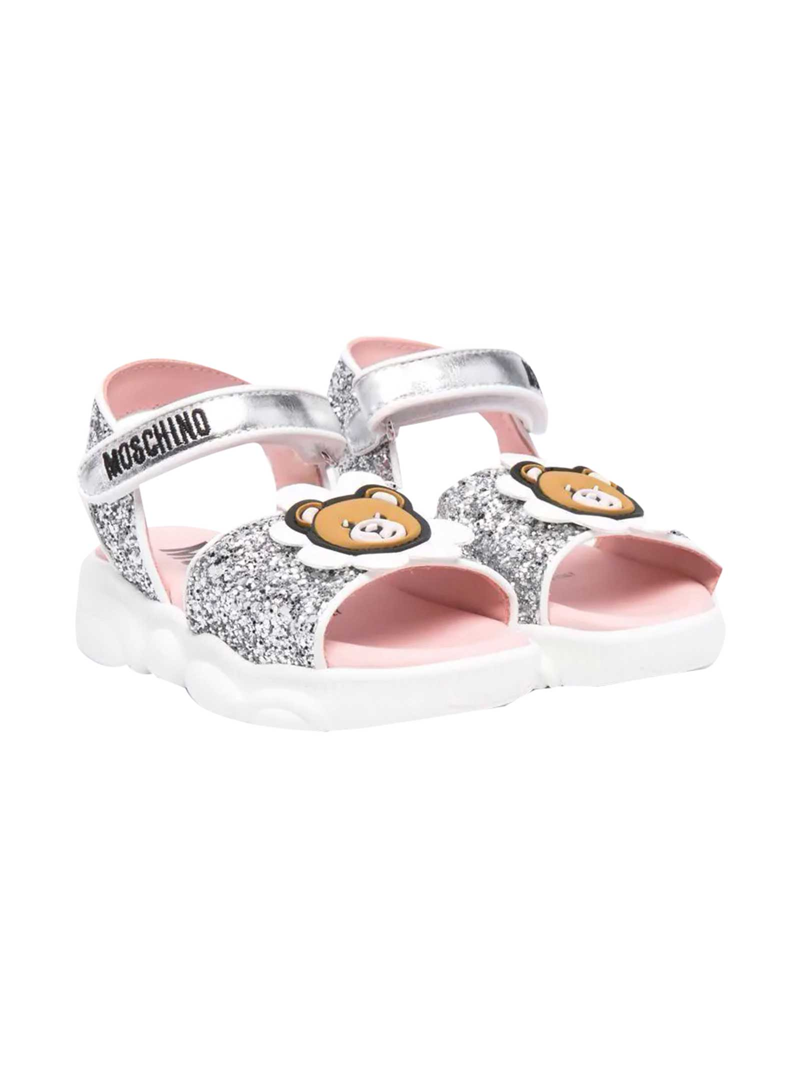 Moschino SANDALS WITH TEDDY BEAR APPLICATION