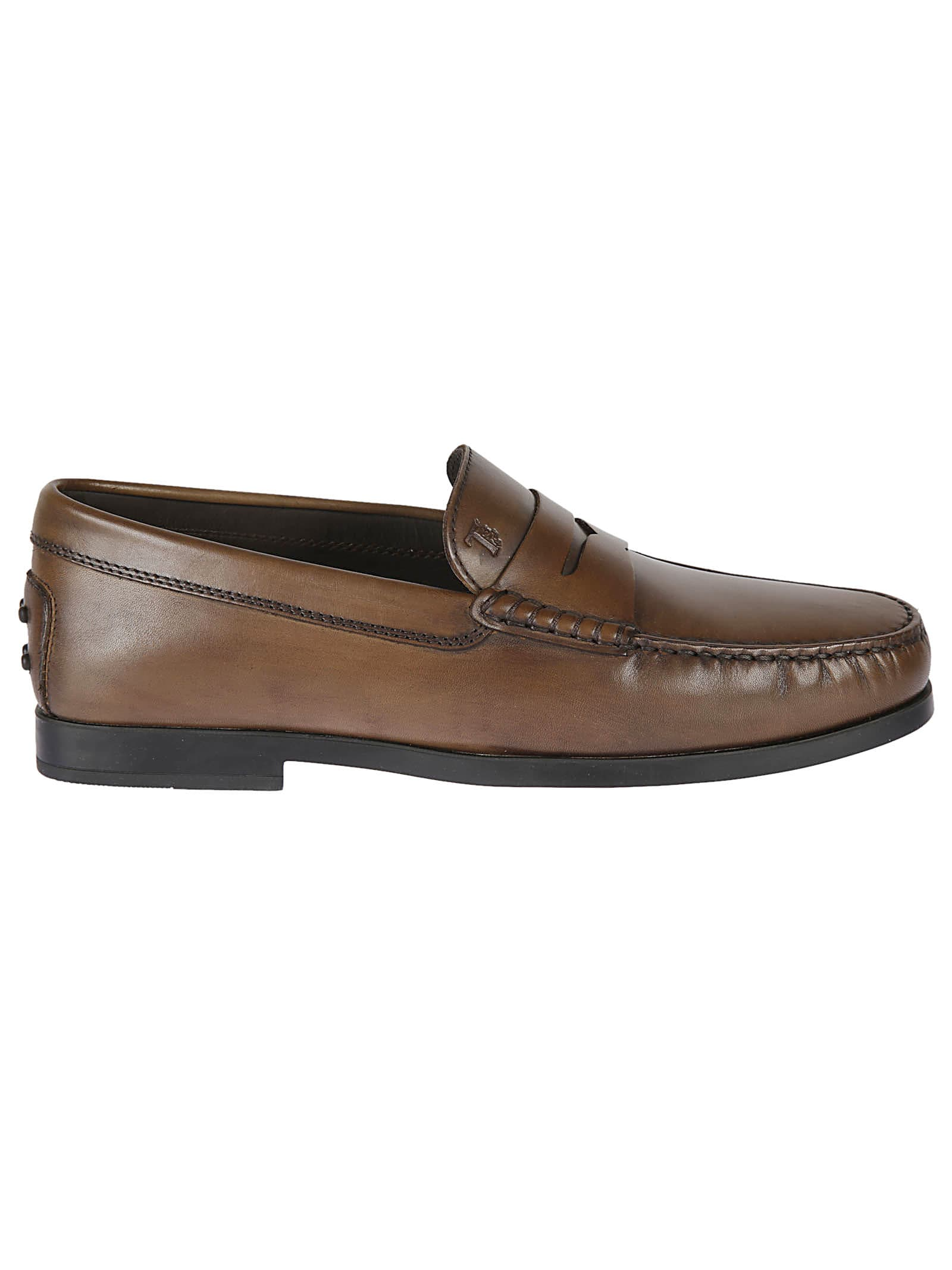 Tods Embossed Logo Loafers