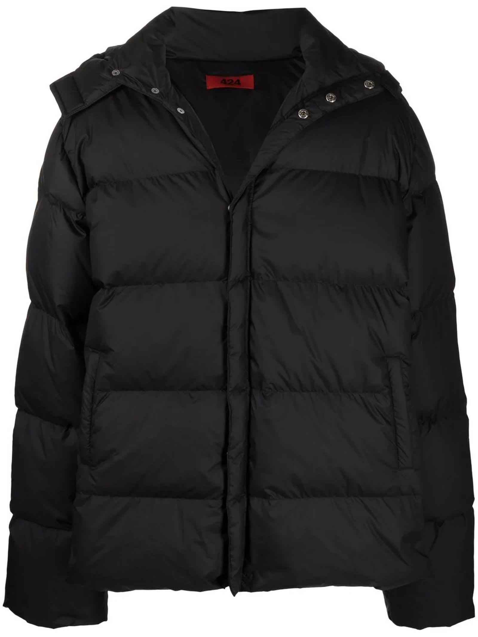 Black Duck Feathers Puffer Jacket