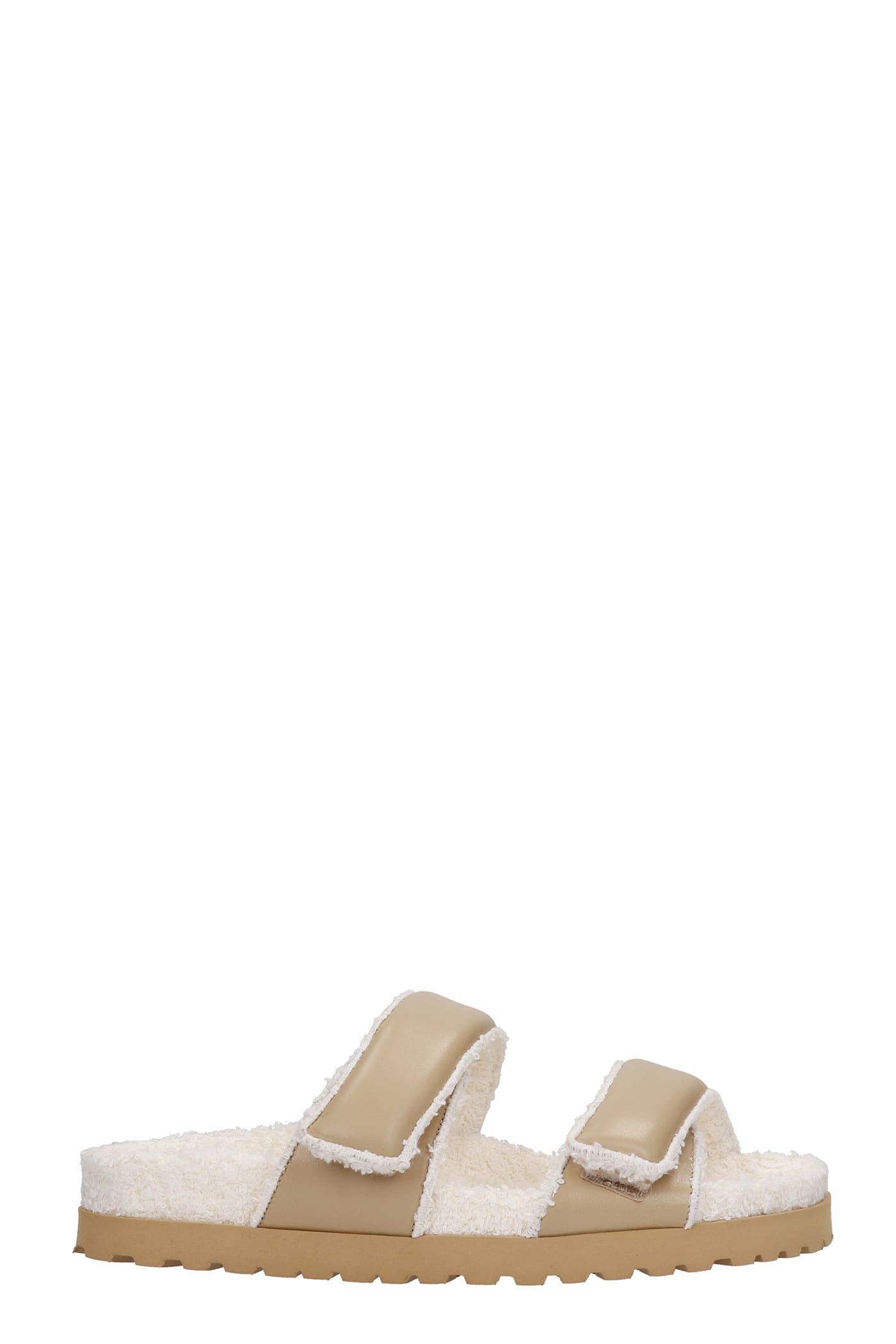 Gia X Pernille Teisbaek Perni 11 Flats In Beige Leather