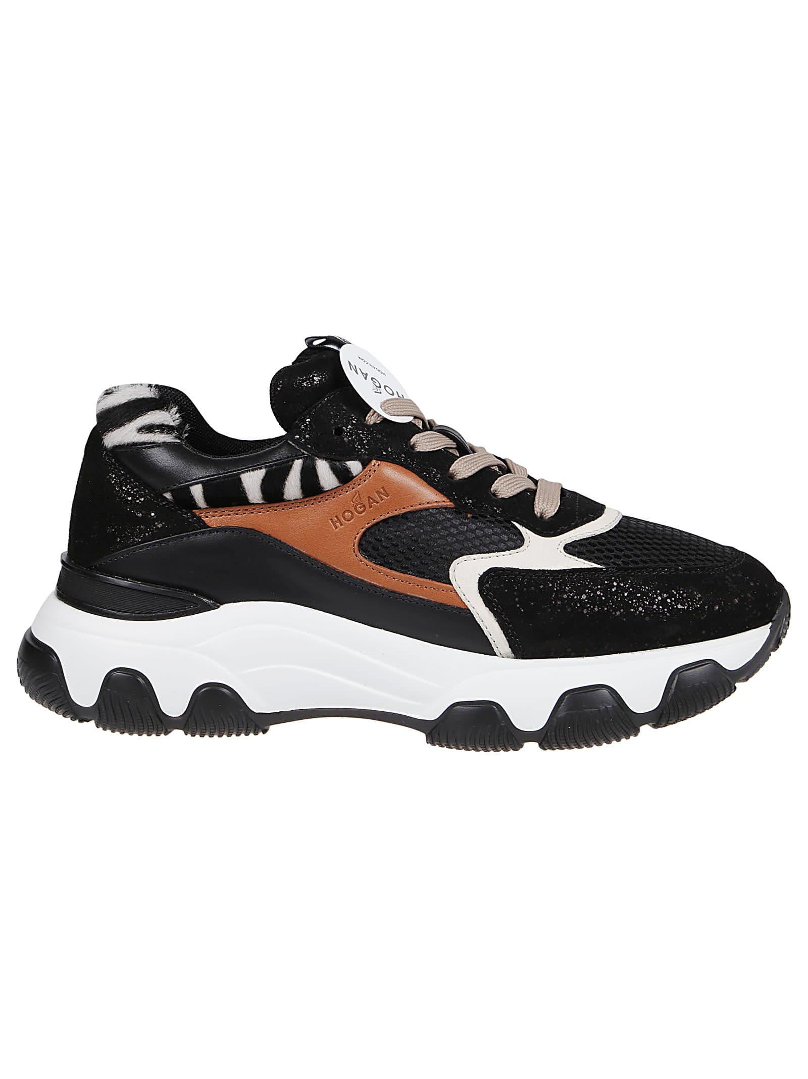 Hogan Hyperactive Sneakers In Cuoio/nero/bianco   ModeSens