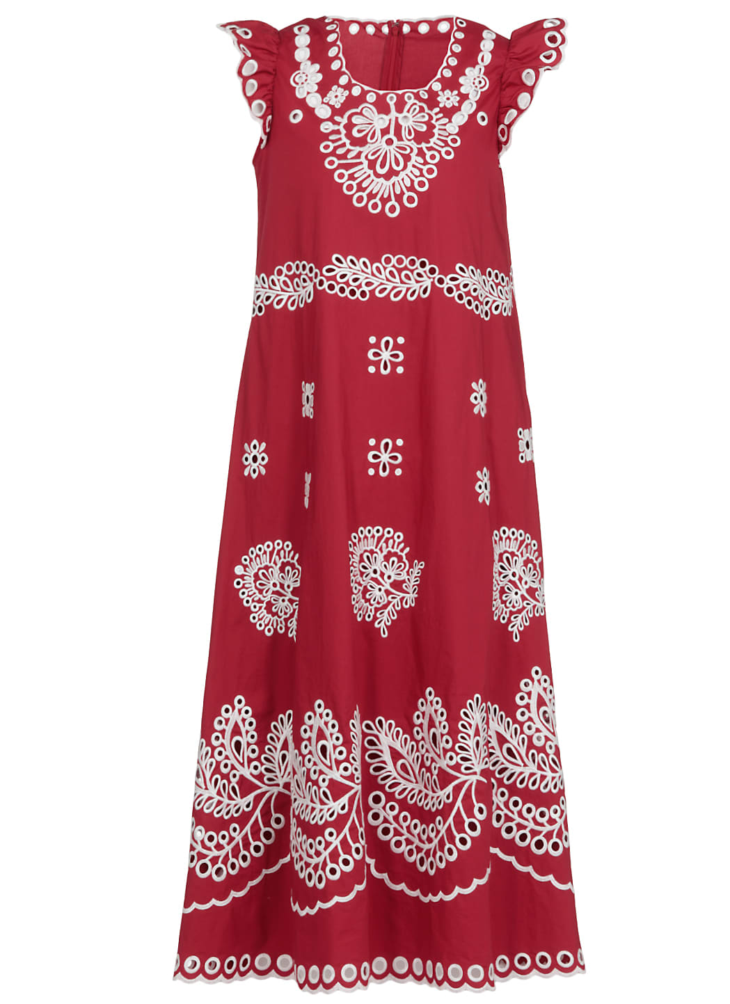 RED Valentino Cotton Dress With Embroideries