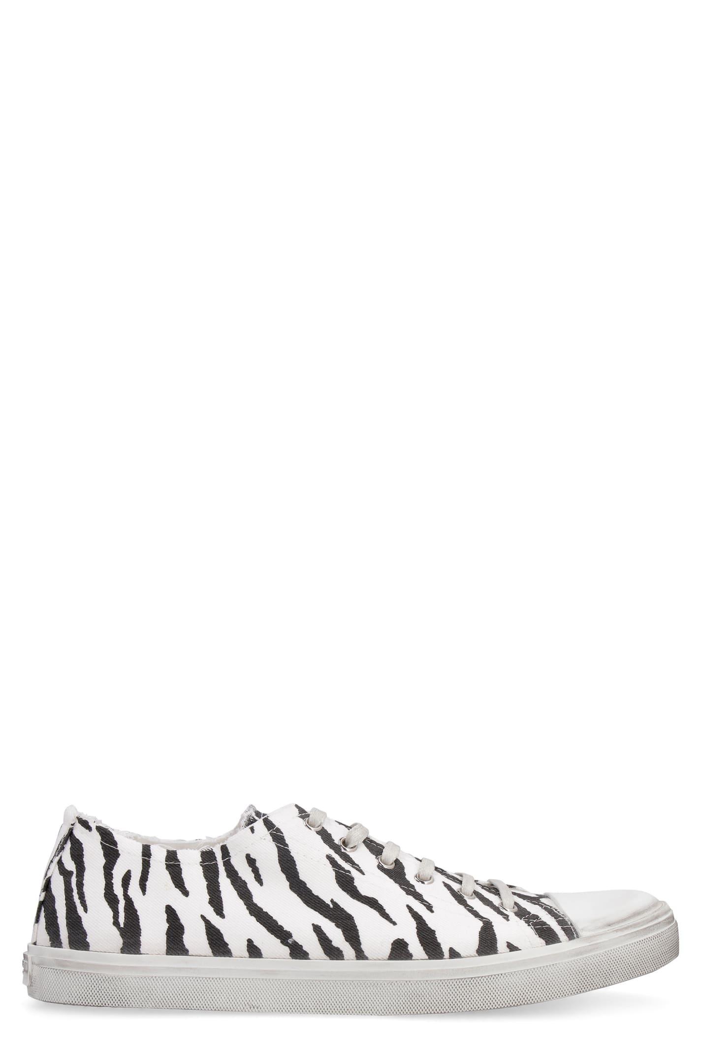 Saint Laurent Bedford Canvas Sneakers