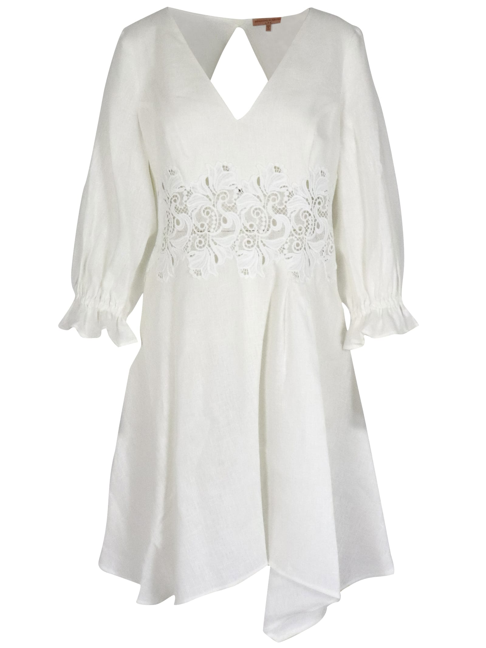 Buy Ermanno Scervino Linen Dress online, shop Ermanno Scervino with free shipping