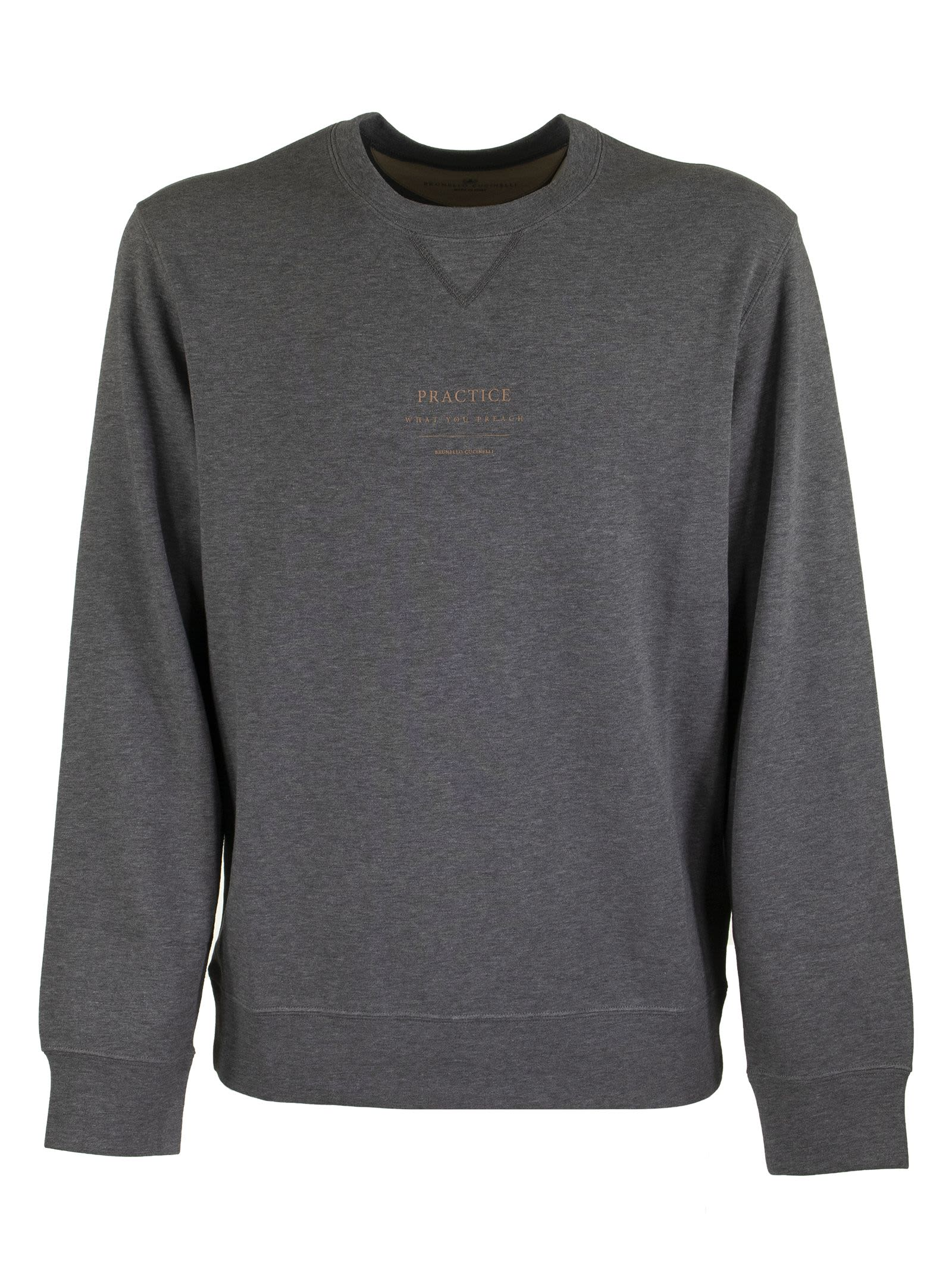 Brunello Cucinelli Cotton Sweatshirt With Central Writing