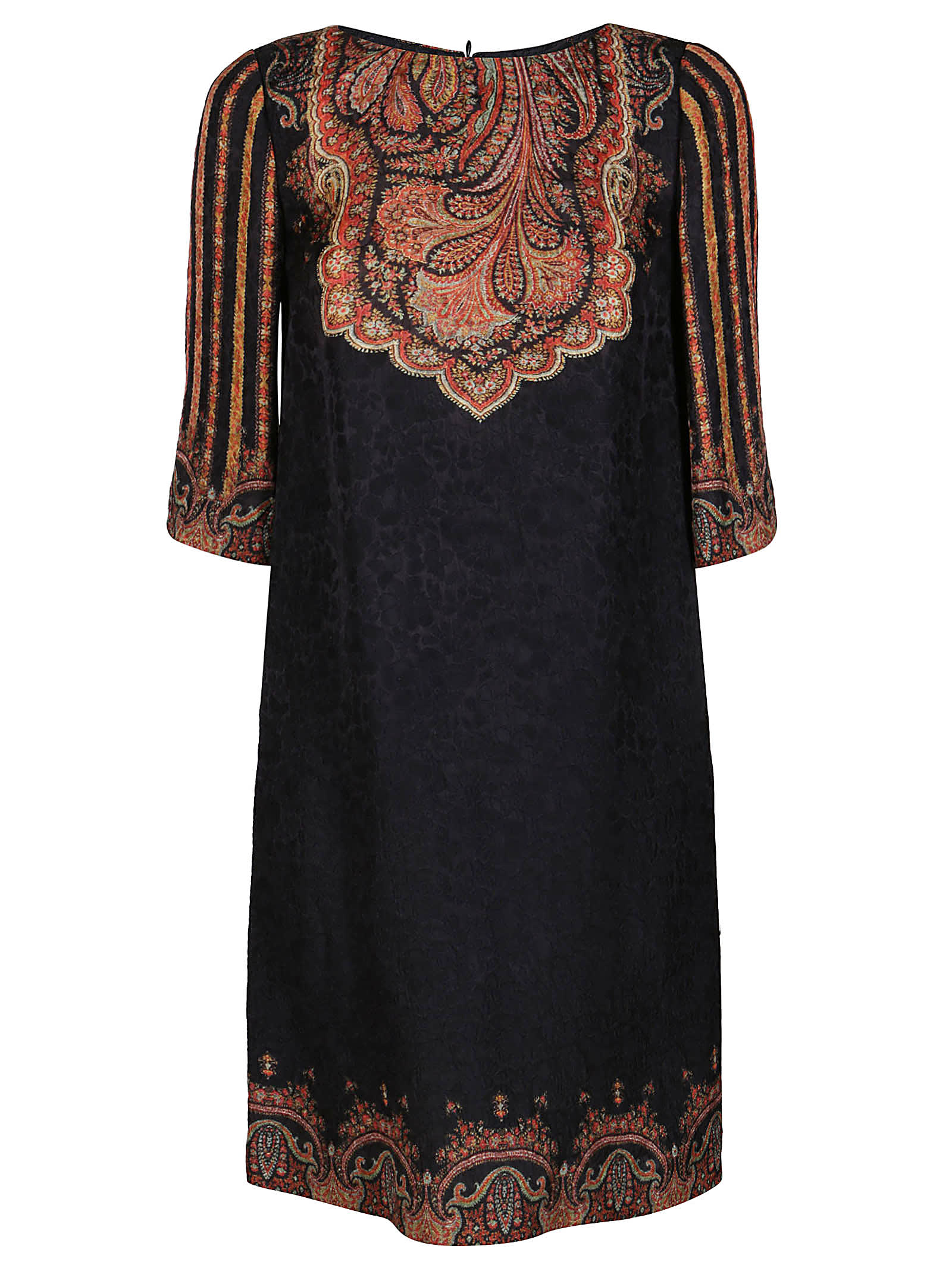 Etro Black Silk-wool-viscose Blend Dress