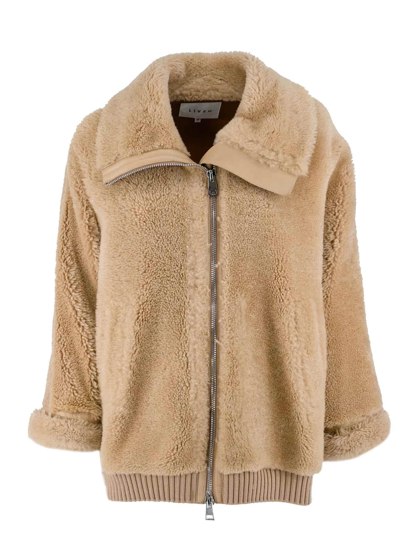 Alpaca-leather Blend Bomber Jacket