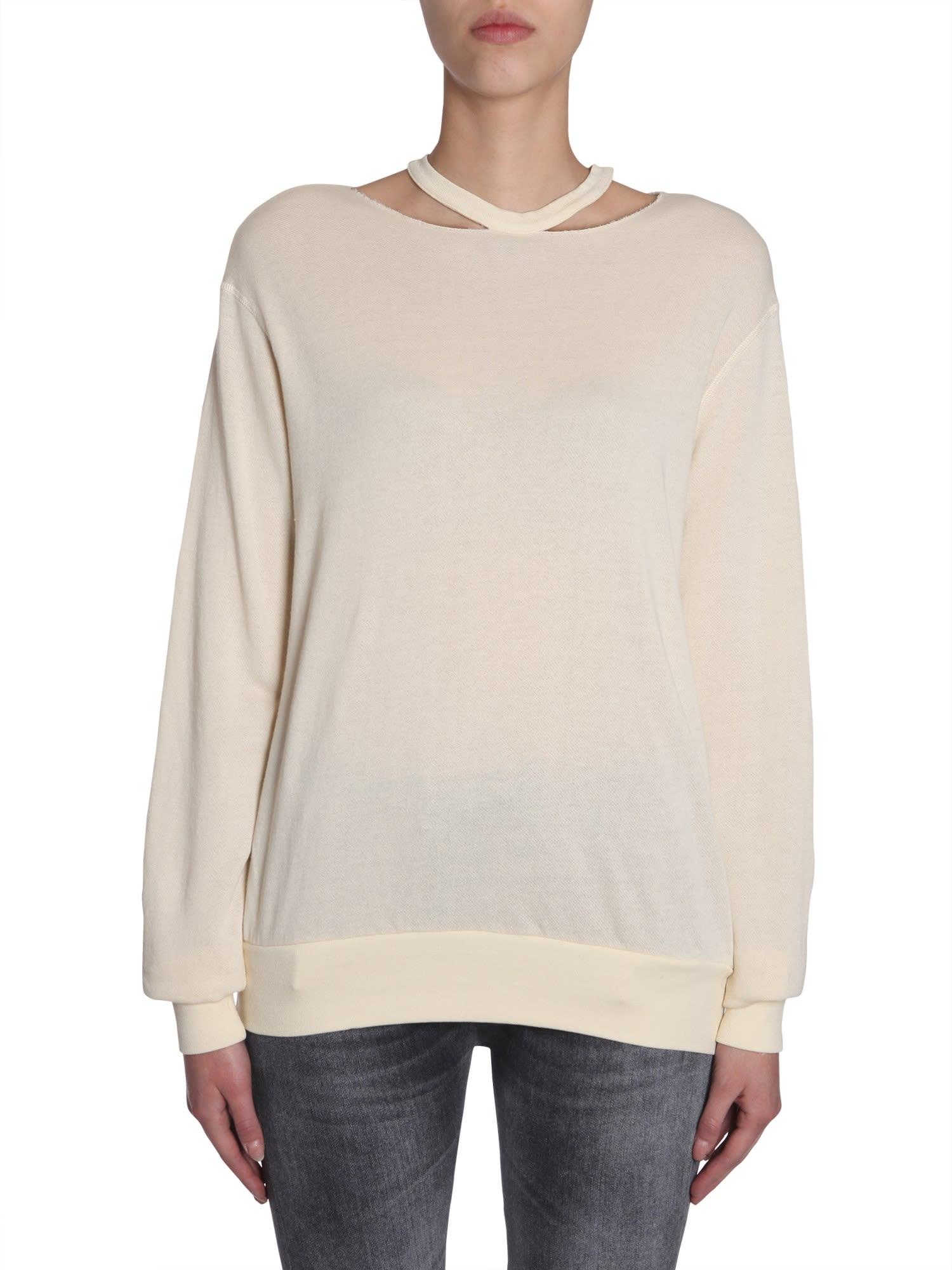 Cut Out Round Collar Sweatshirt
