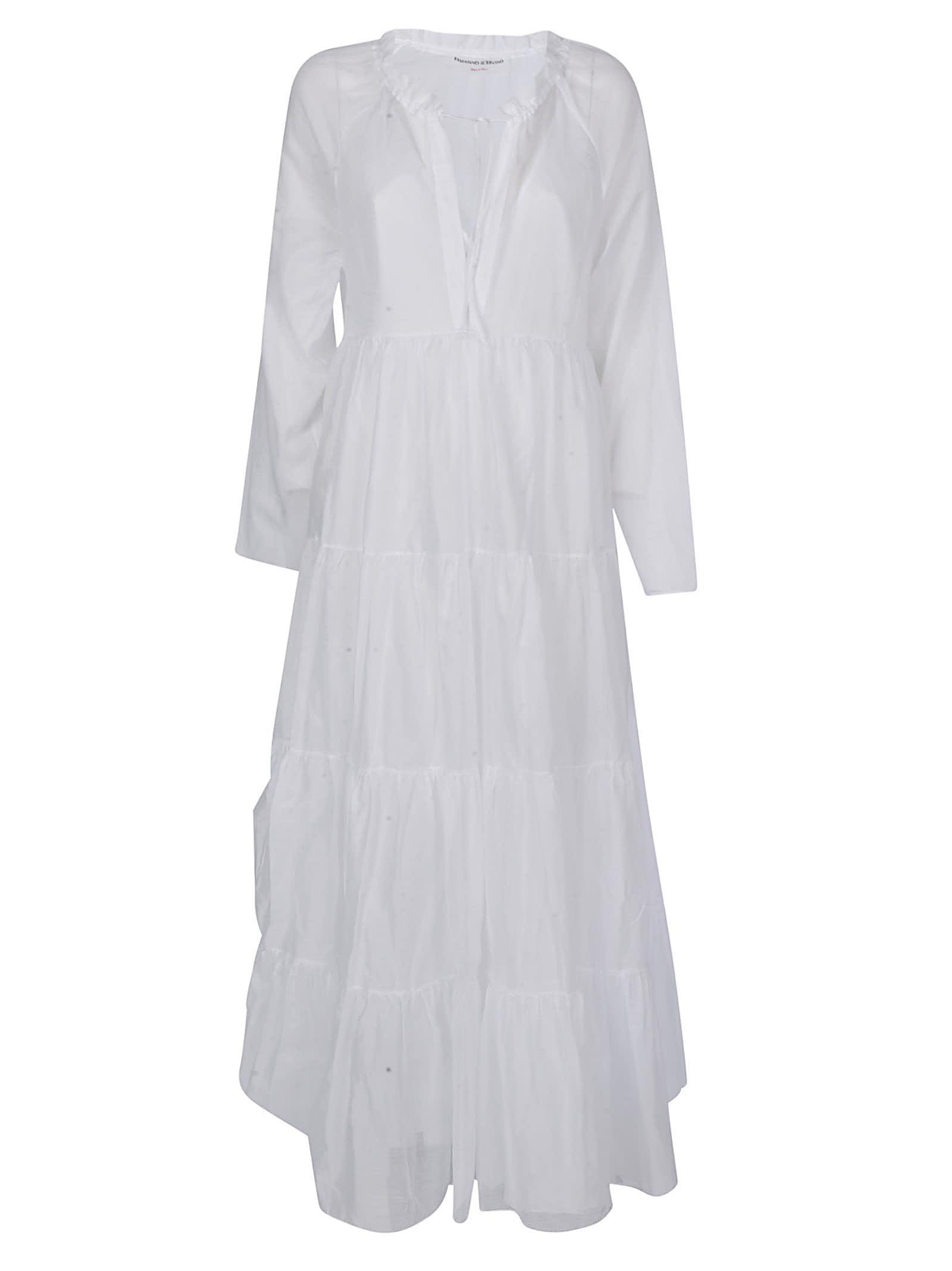 Buy Ermanno Scervino Layered V-neck Dress online, shop Ermanno Scervino with free shipping