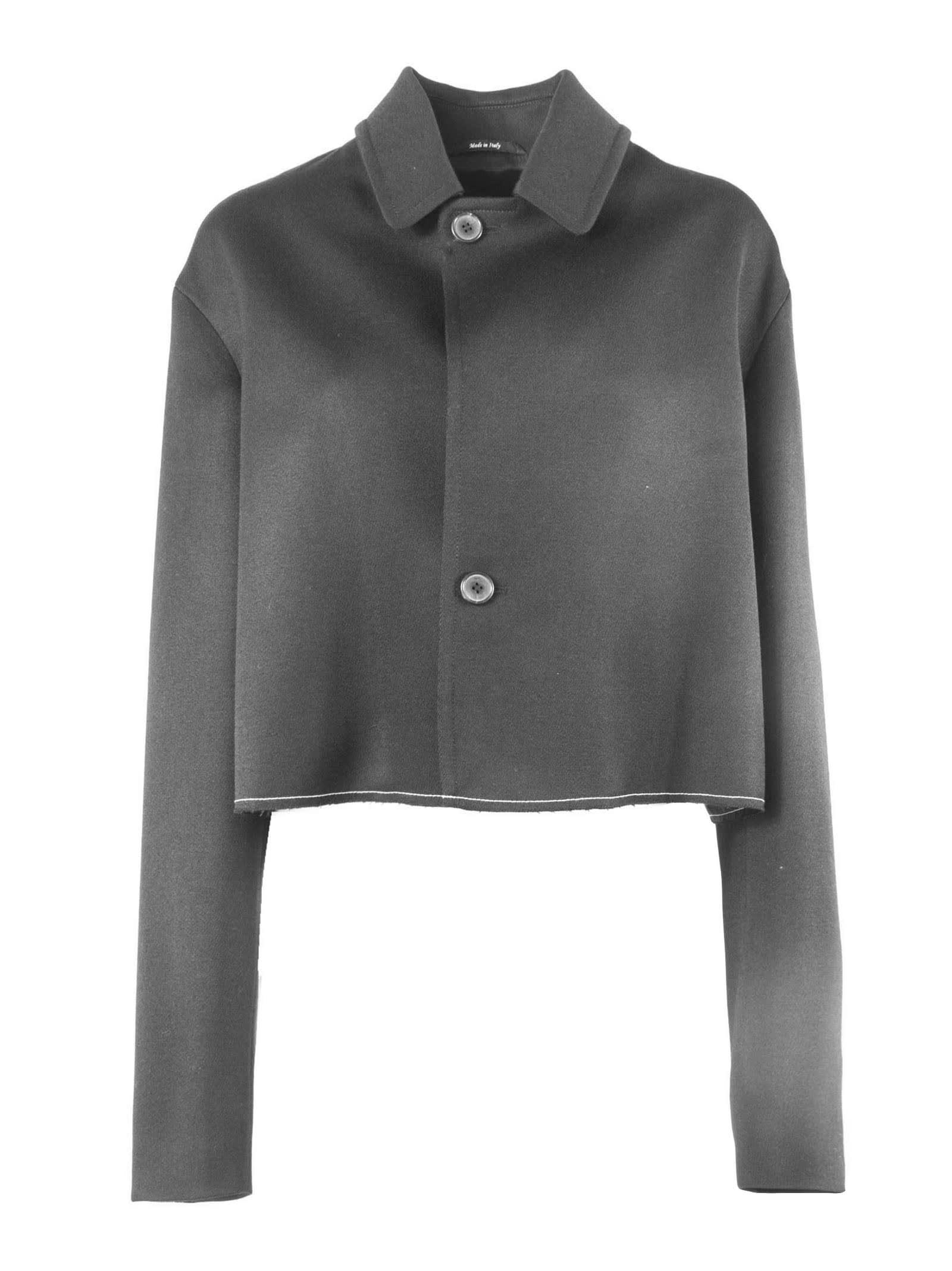 Maison Margiela Black Wool Cropped Jacket