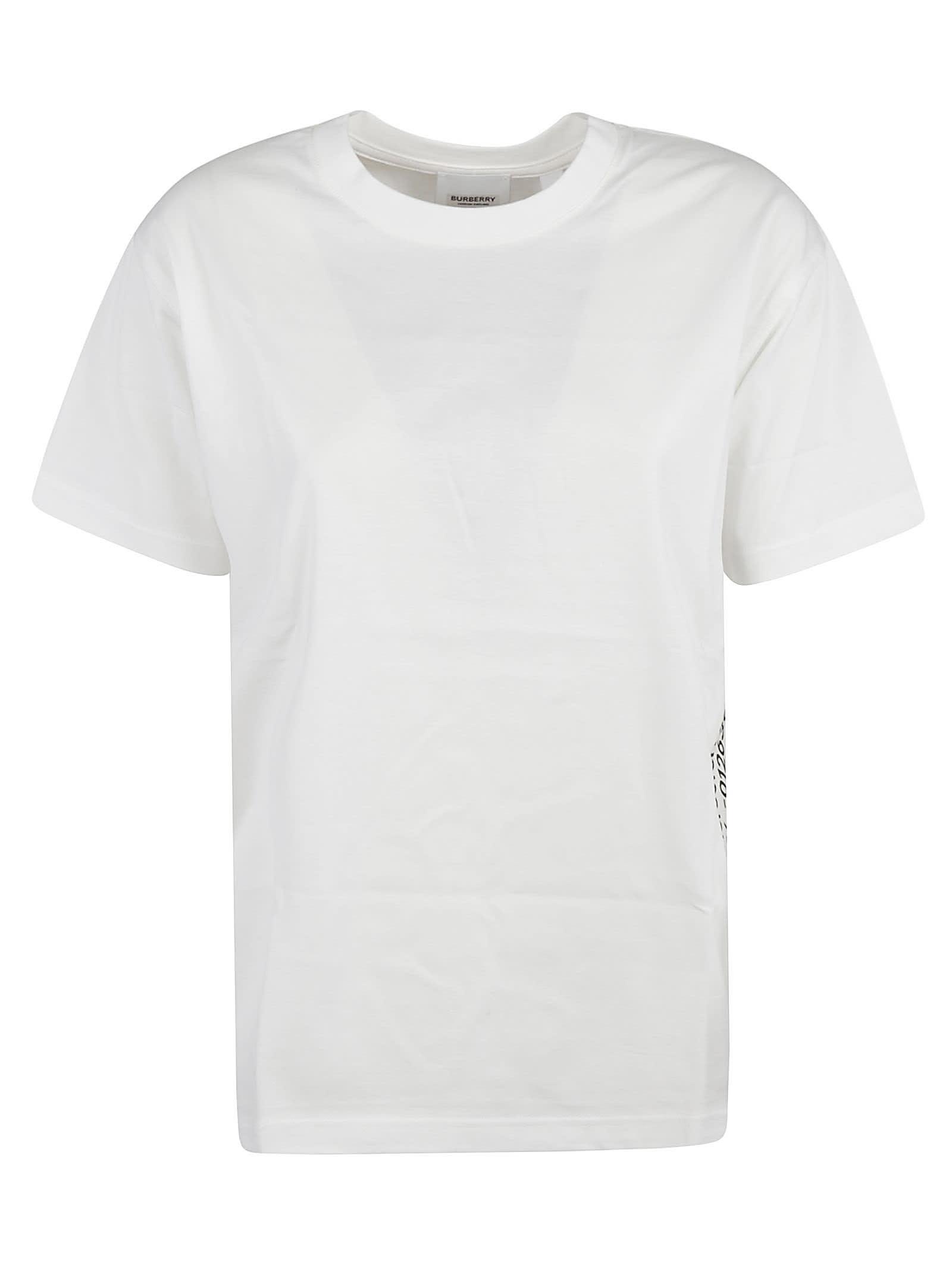 Burberry Back Logo Print T-shirt In White