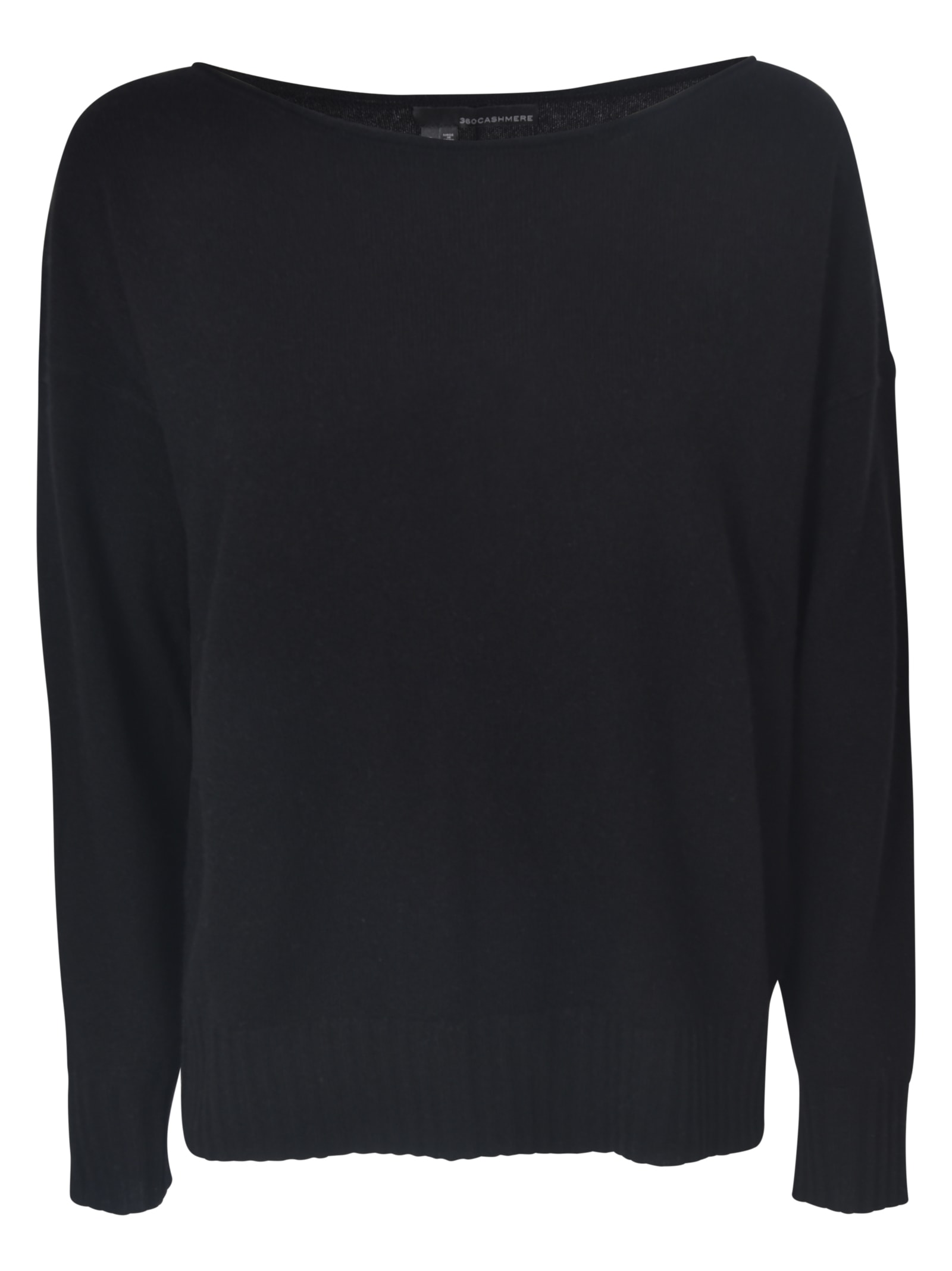 360 Sweater Wide Neck Ribbed Sweater