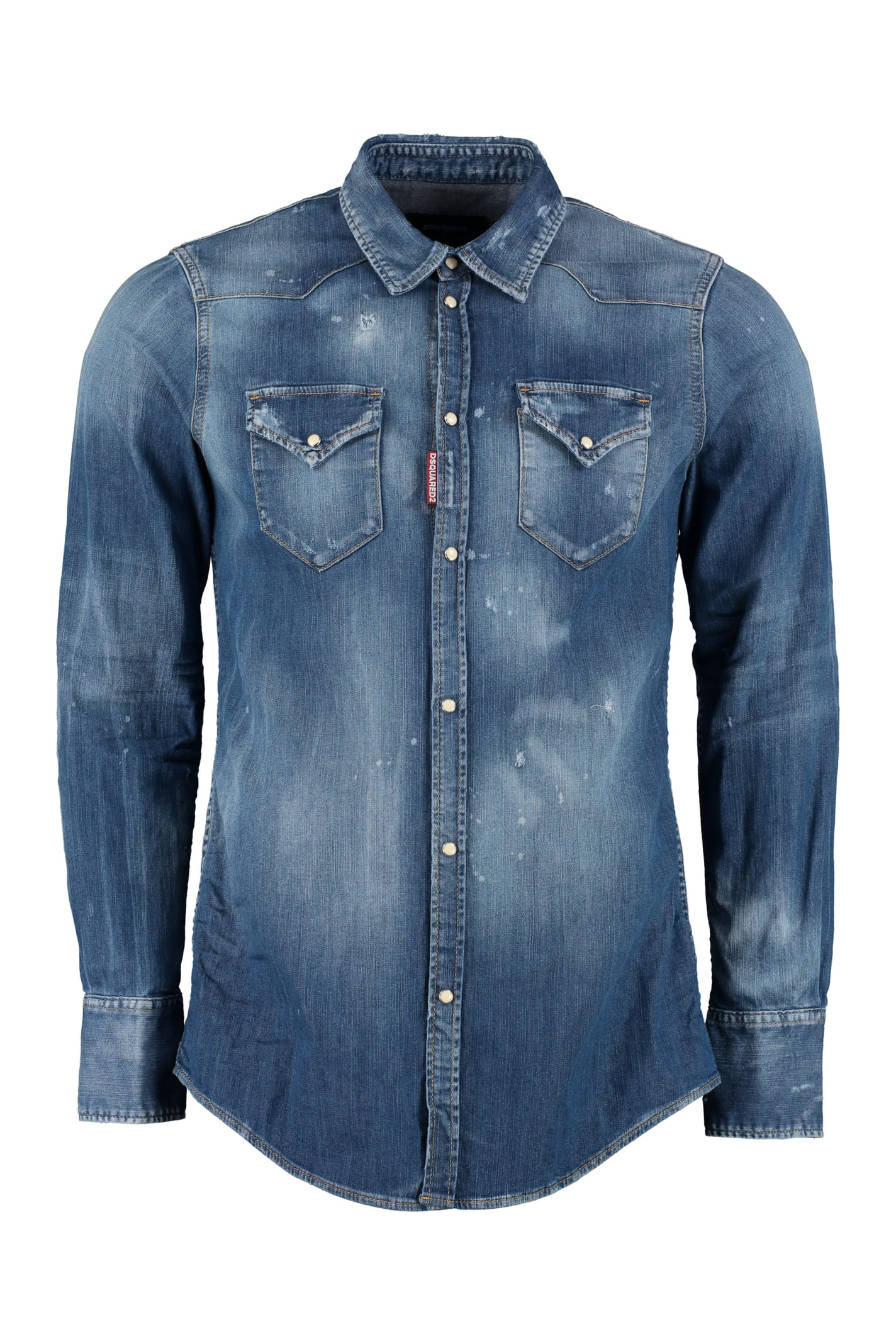 2736748599 Dsquared2 Washed Denim Shirt
