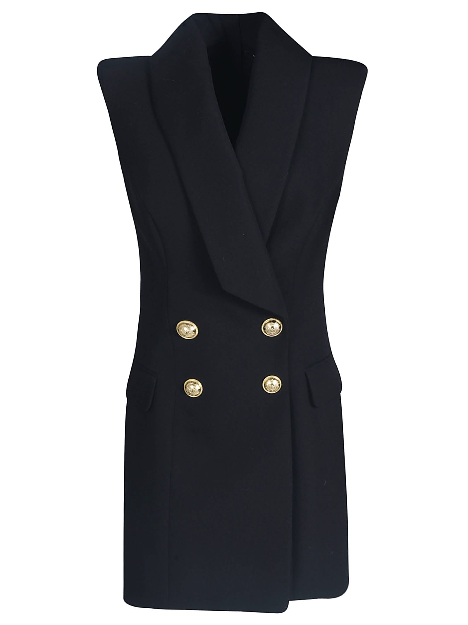 Buy Balmain Double-breasted Rear Zip Blazer Dress online, shop Balmain with free shipping