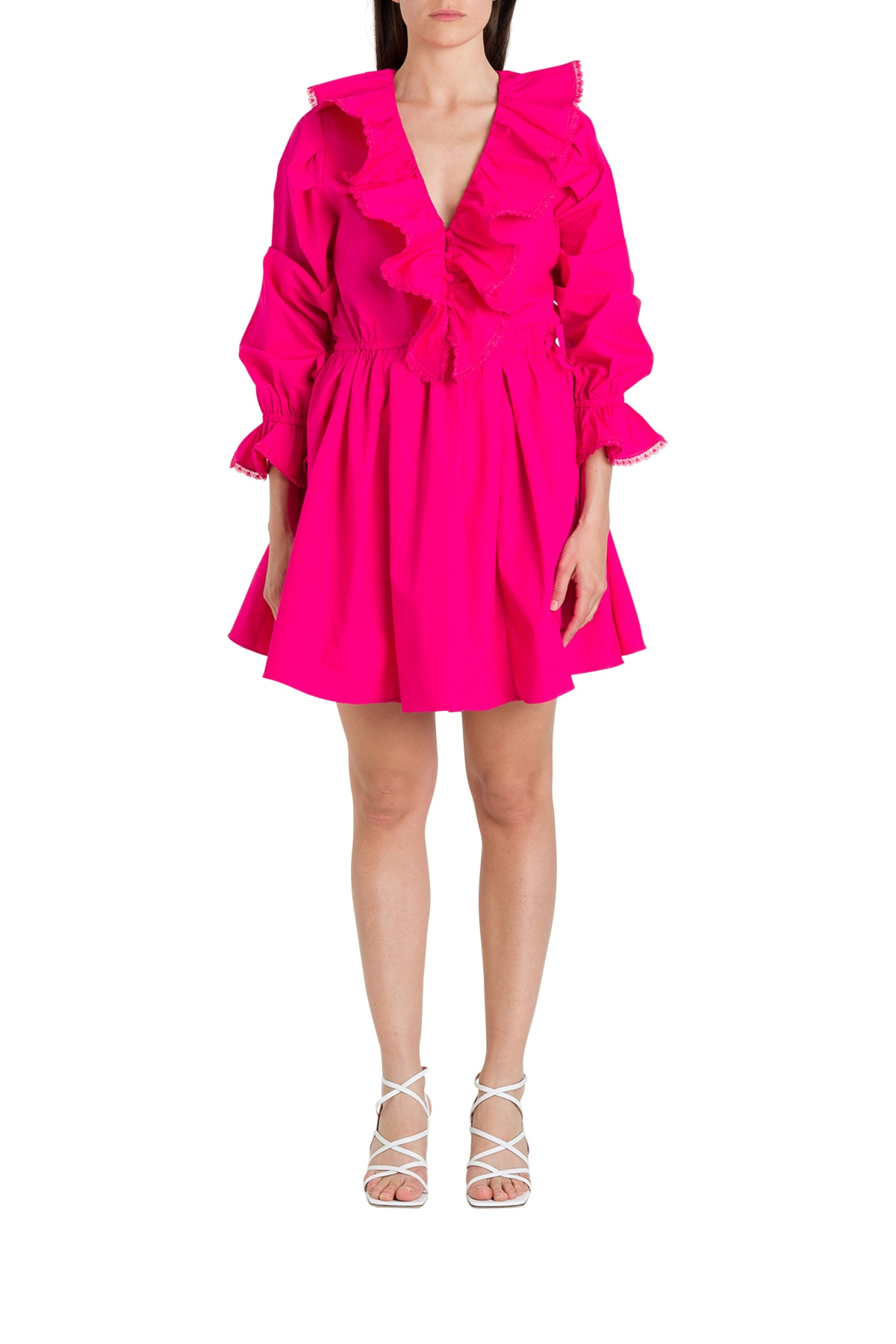 Buy self-portrait Ruffle Trimmig Dress online, shop self-portrait with free shipping