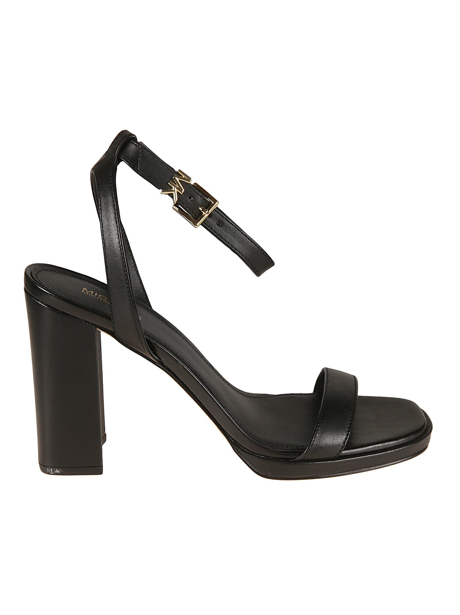 Buy Michael Kors Angela Ankle Strap Leather Sandals online, shop Michael Kors shoes with free shipping