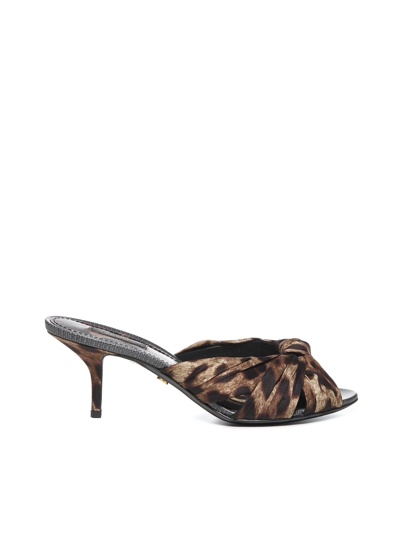Dolce & Gabbana Leopard Printed Flat Shoes