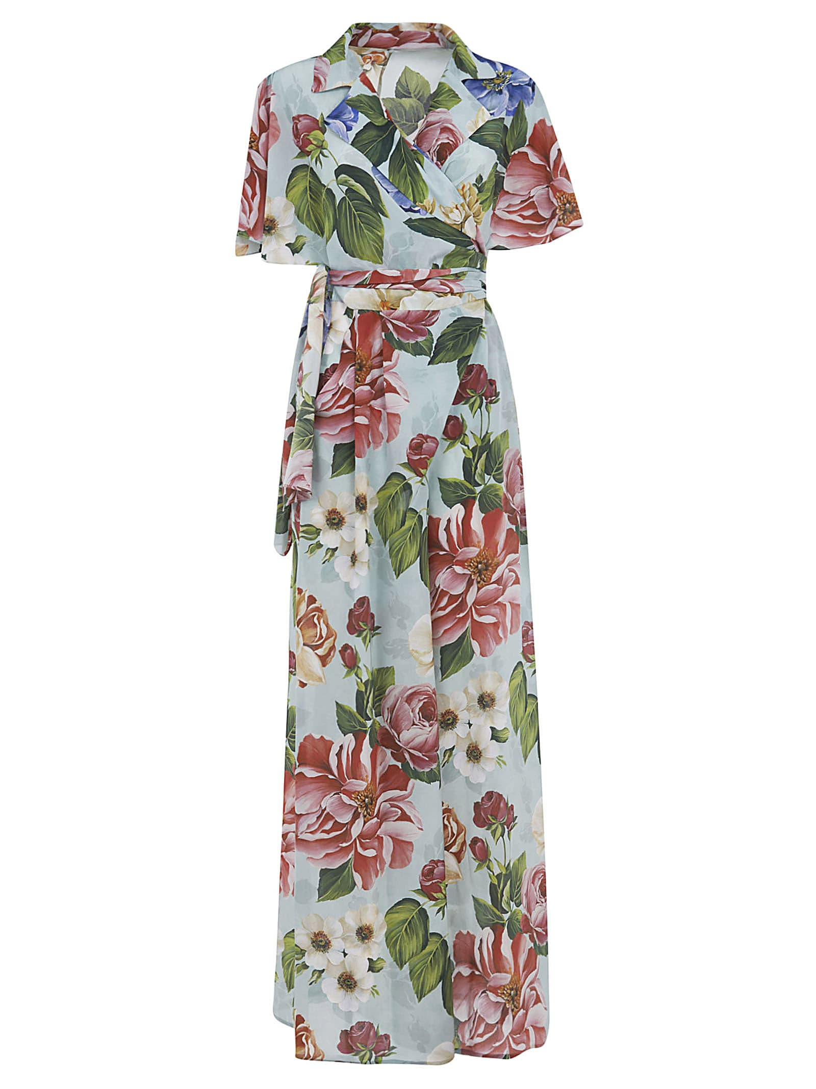 Buy Dolce & Gabbana Long Floral Print Dress online, shop Dolce & Gabbana with free shipping