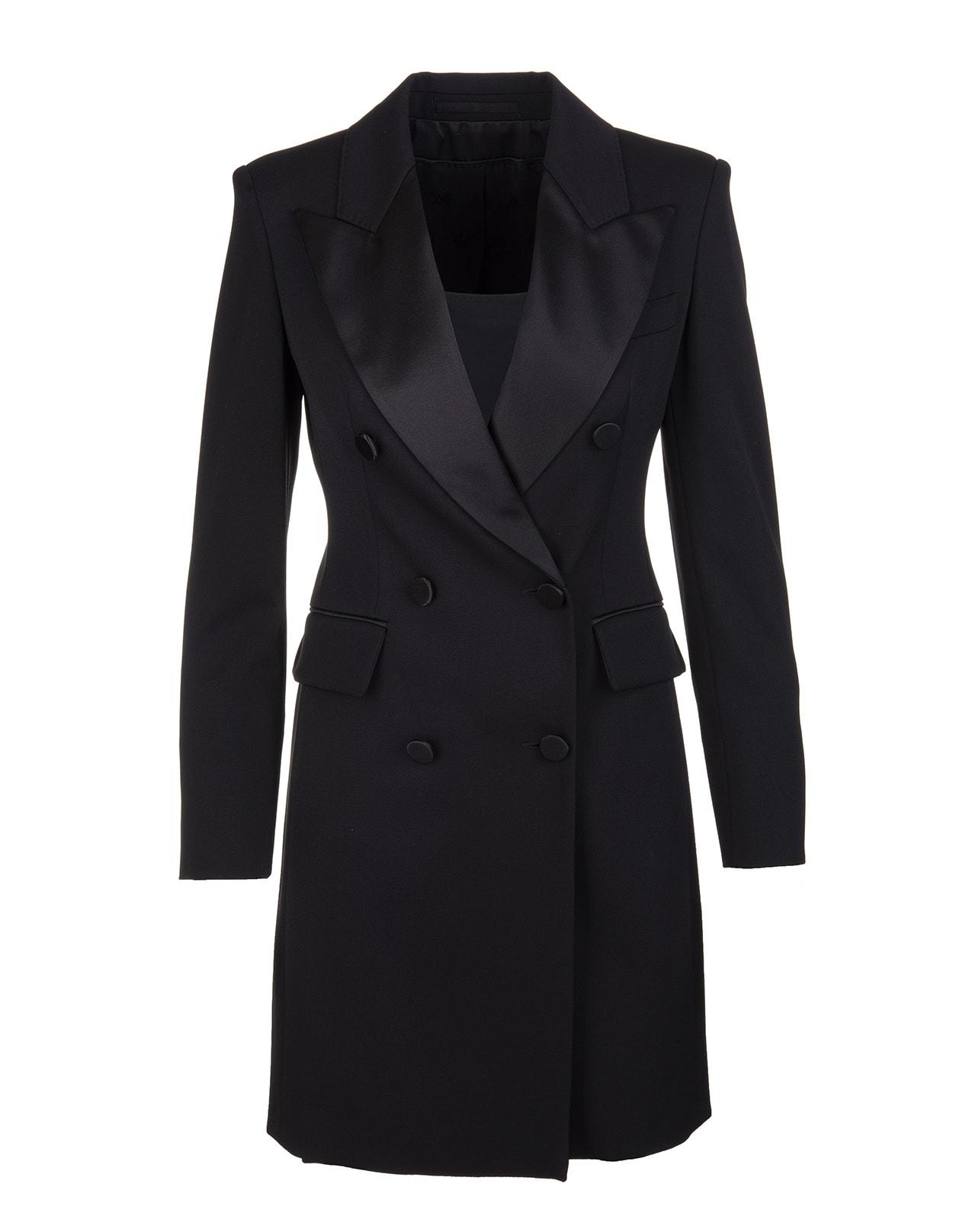 Black Petali Short Dress Max Mara Pianoforte