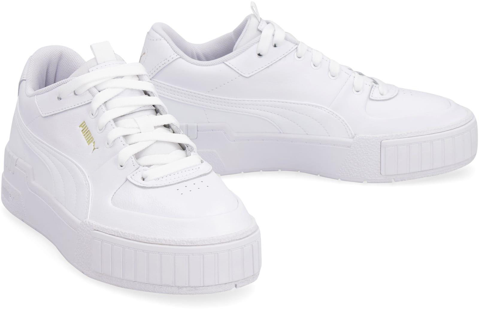 white puma platform shoes
