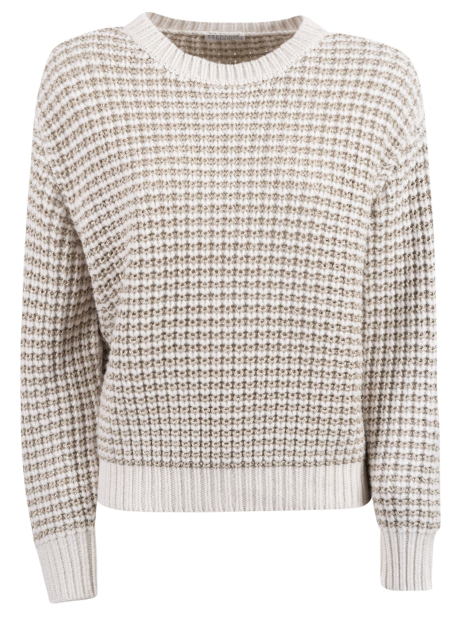 Brunello Cucinelli Patterned Crewneck Sweater