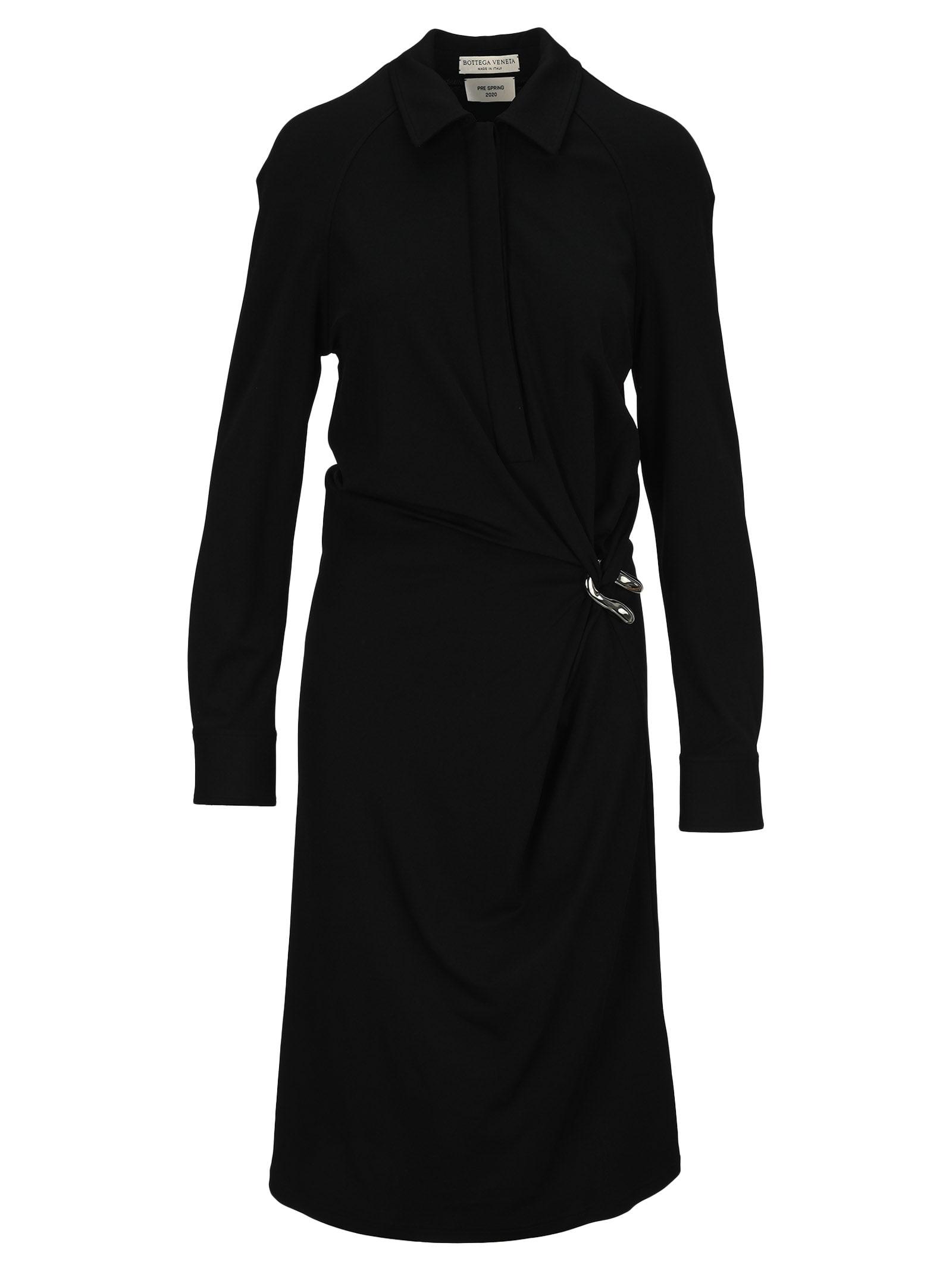 Buy Bottega Veneta Draped Shirtdress online, shop Bottega Veneta with free shipping