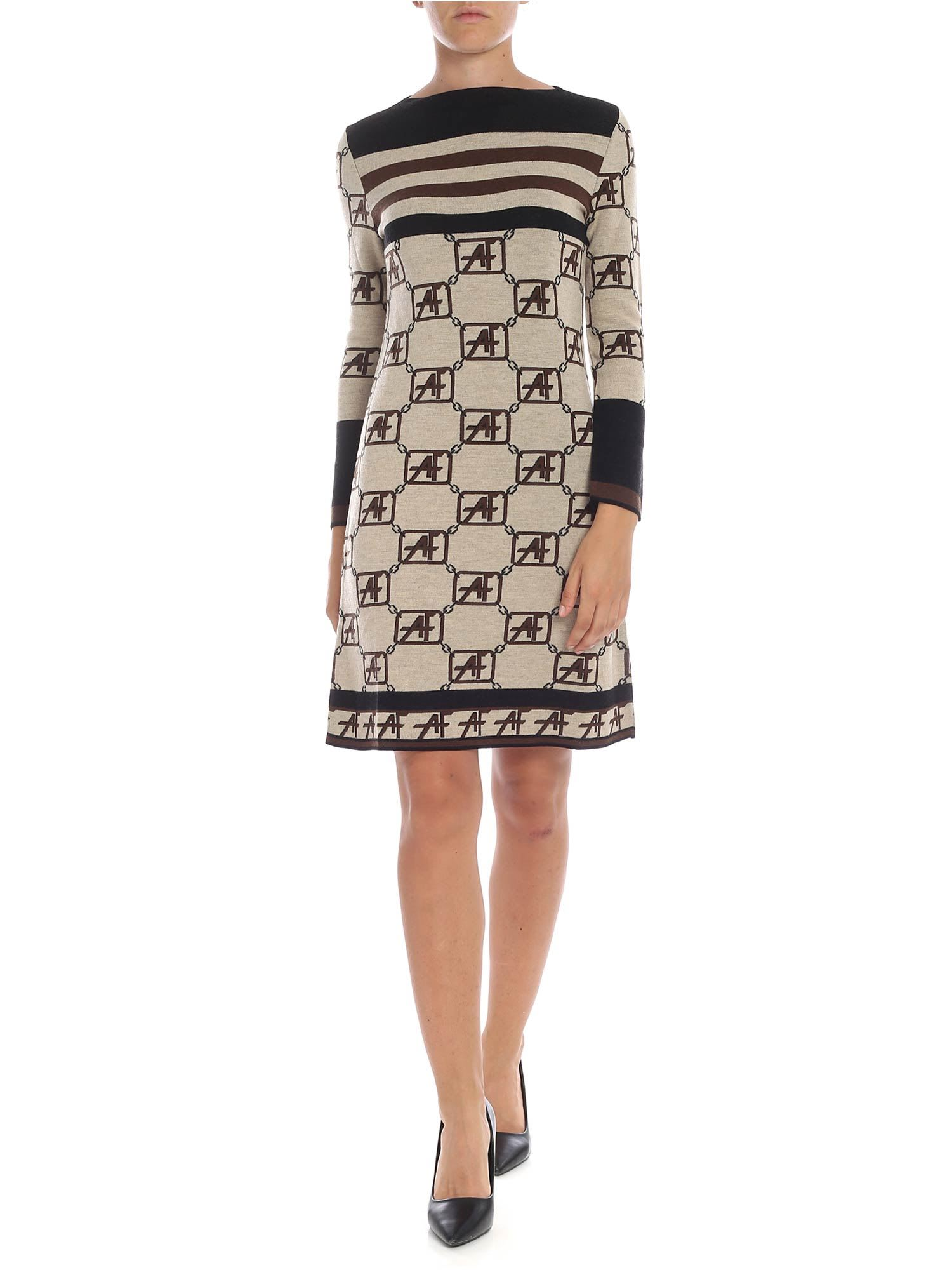 Alberta Ferretti – Monogram Motif Dress