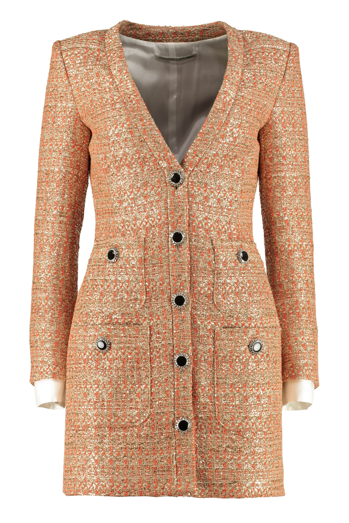 Buy Alessandra Rich Multicolour Tweed Dress online, shop Alessandra Rich with free shipping