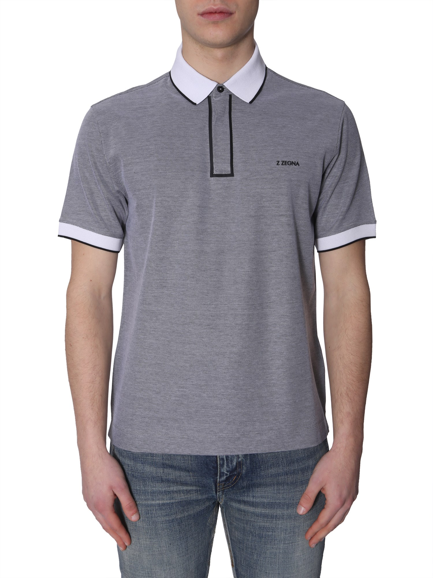 668189a0b4 Z Zegna Cotton Polo T-shirt