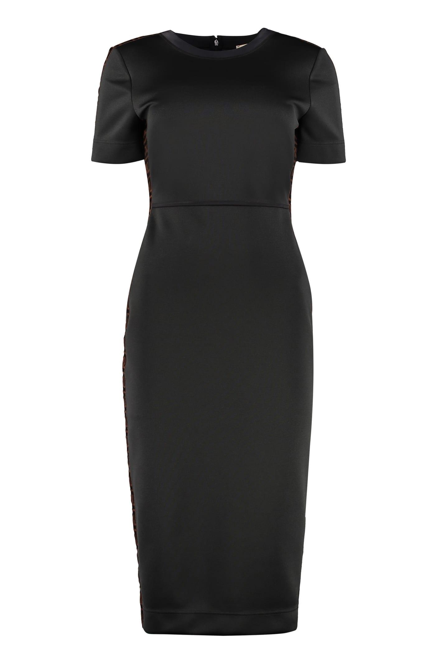 Buy Fendi Logoed Stripe Sheath Dress online, shop Fendi with free shipping