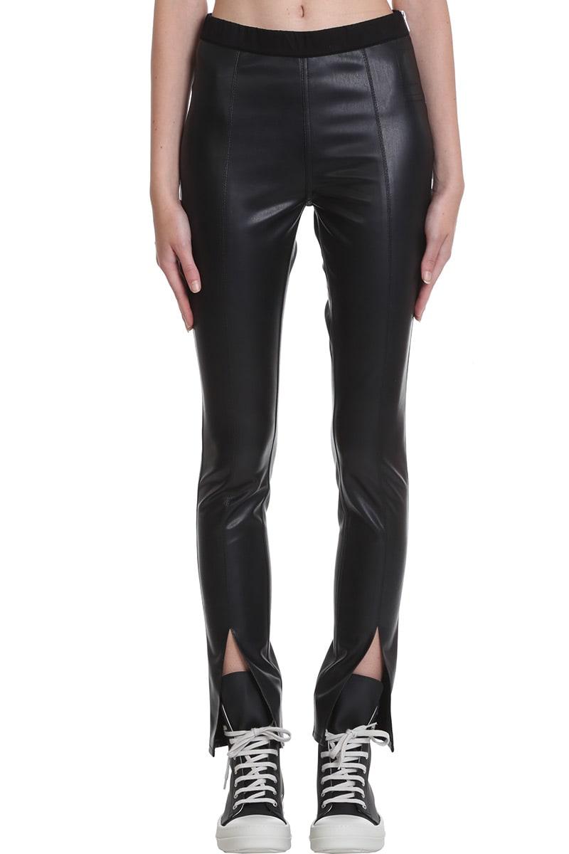 Drkshdw SLIT FRONT LEGG PANTS IN BLACK POLYESTER