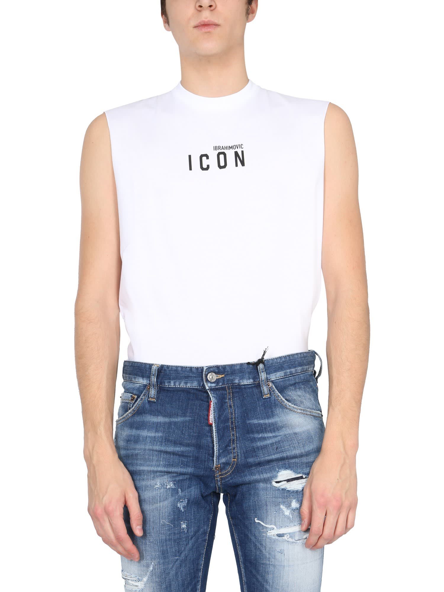 Dsquared2 Cottons IBRAHIMOVIC CAPSULE TANK TOP