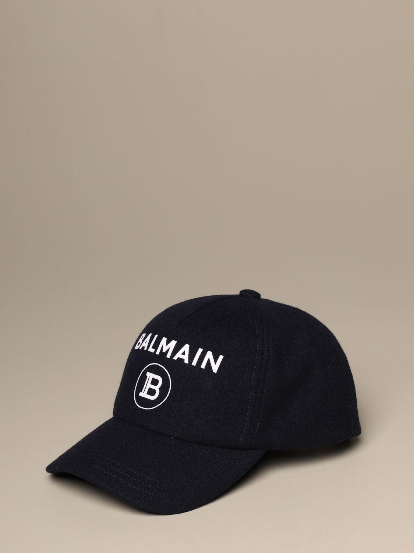 Balmain Hat Balmain Wool Baseball Cap