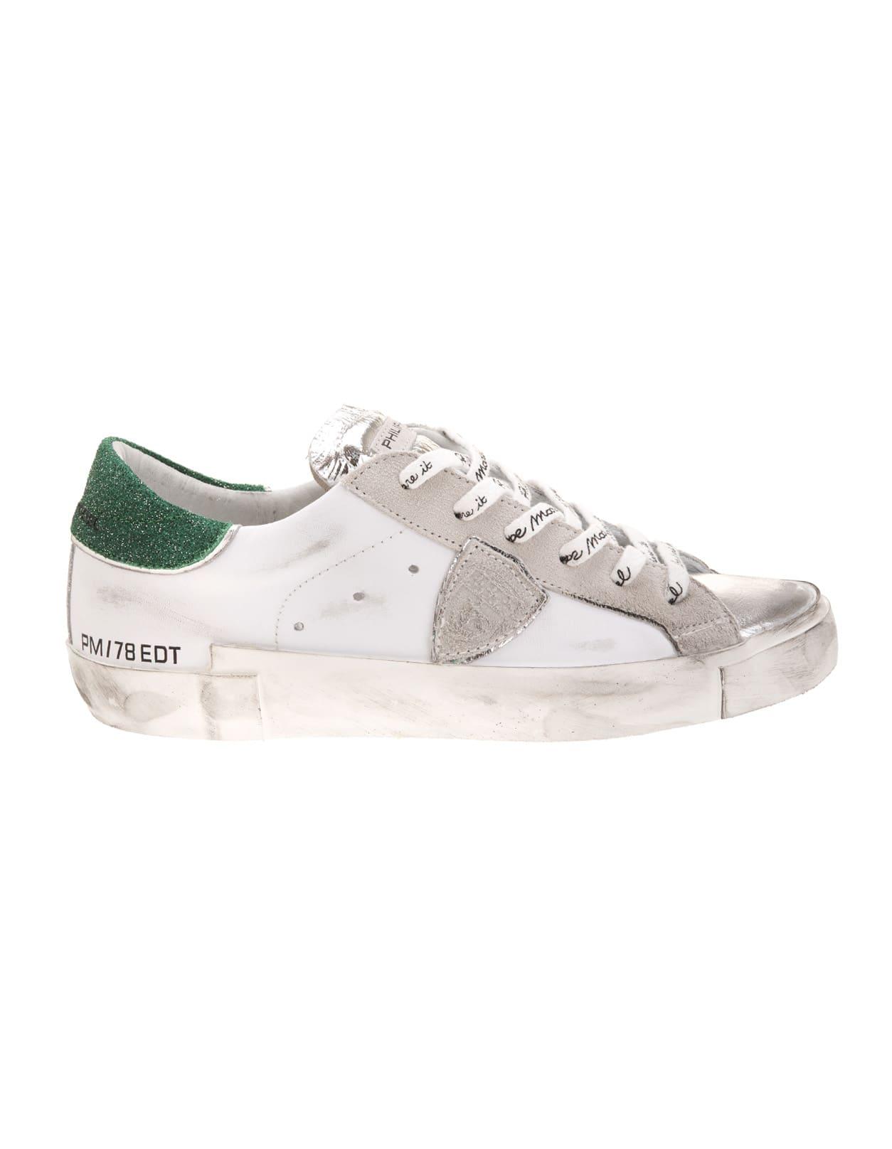 Green Spoiler Paris Woman Sneakers