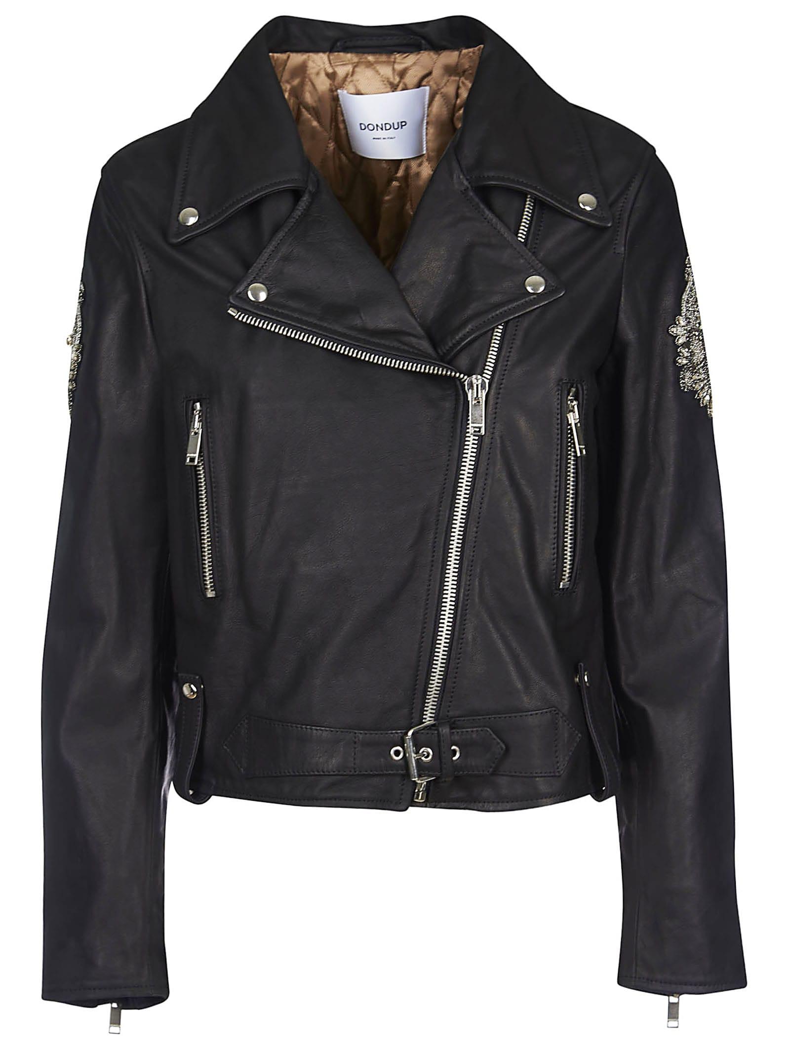 good service official price recognized brands Best price on the market at italist   Dondup Dondup Embellished Biker Jacket