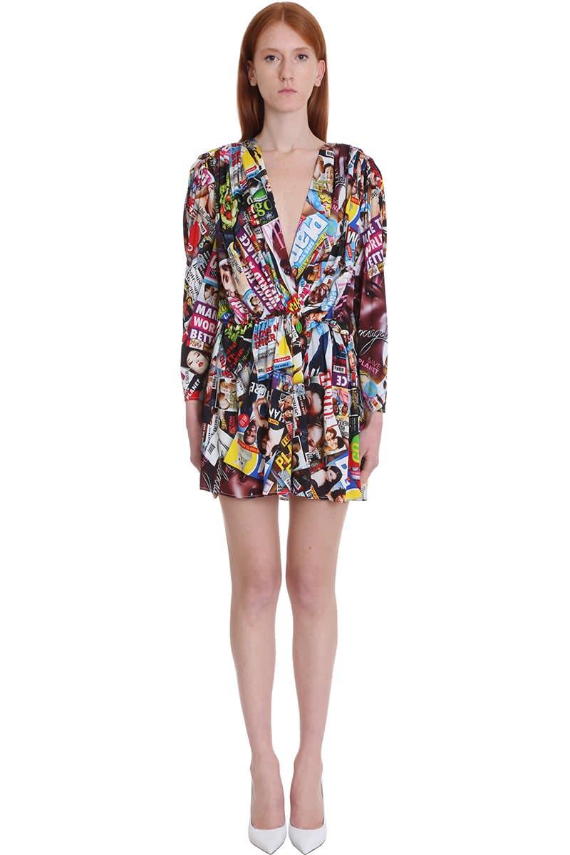 Buy Balenciaga Dress In Multicolor Viscose online, shop Balenciaga with free shipping