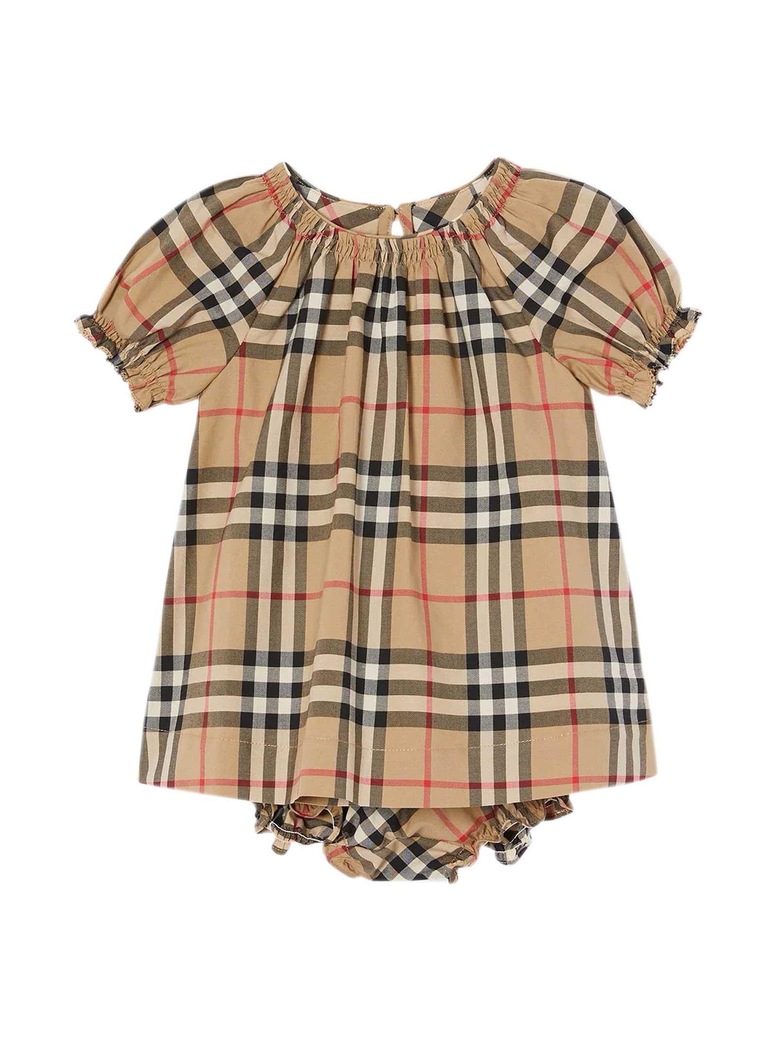 Burberry VINTAGE CHECK PRINT DRESS