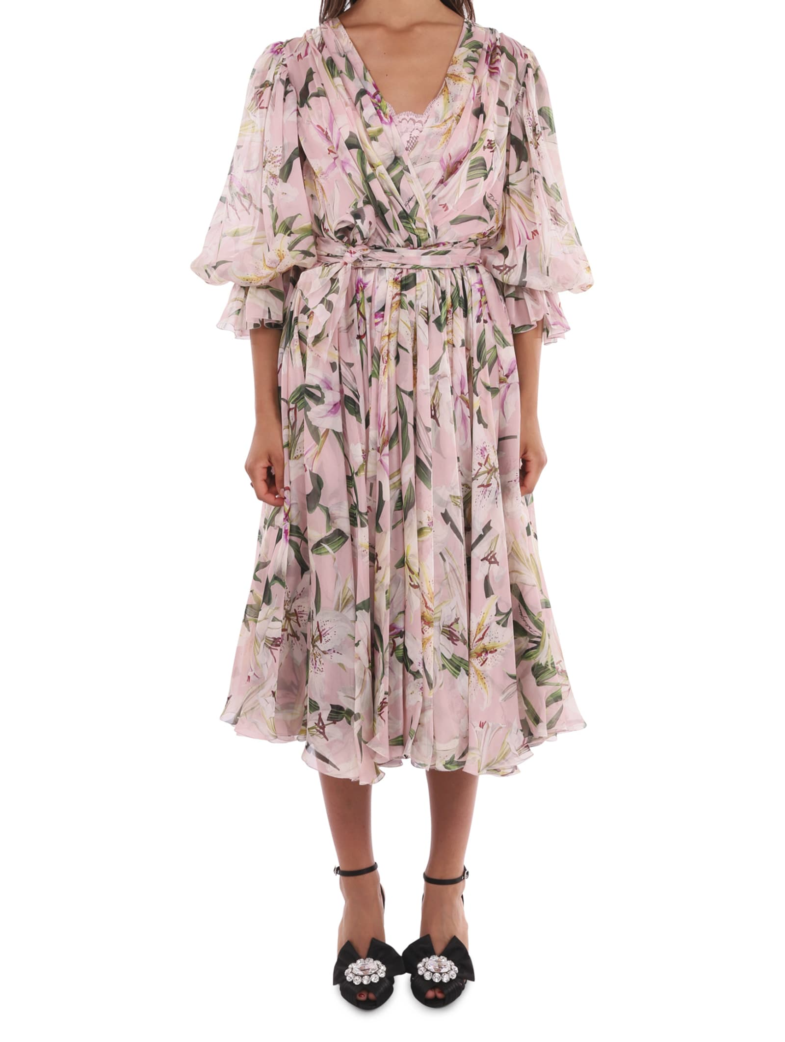 Dolce & Gabbana Lily Wrap Dress