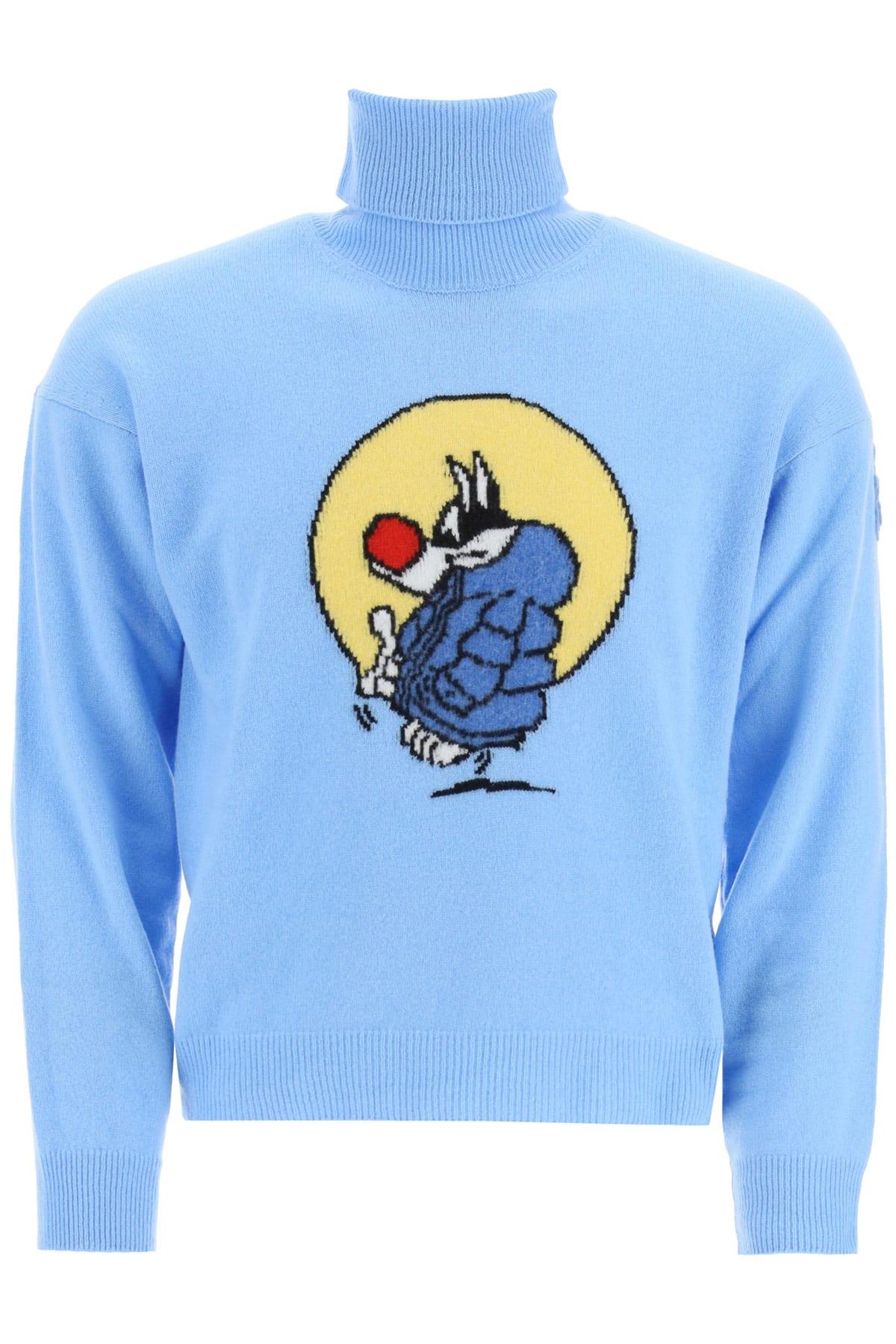 Moncler Genius 1 Sylvester Turtleneck Sweater In Light Blue (light Blue)