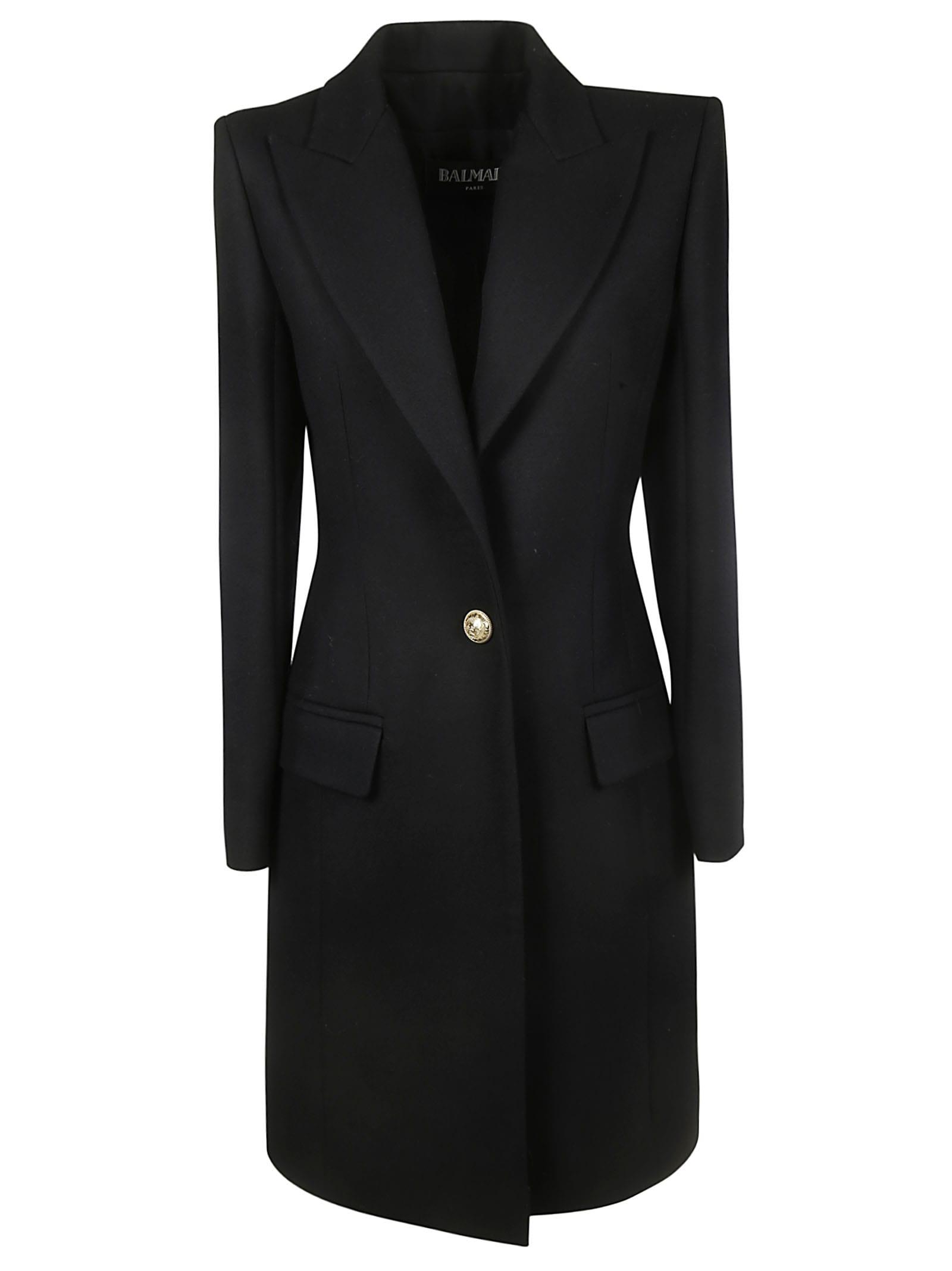 Balmain One Button Coat