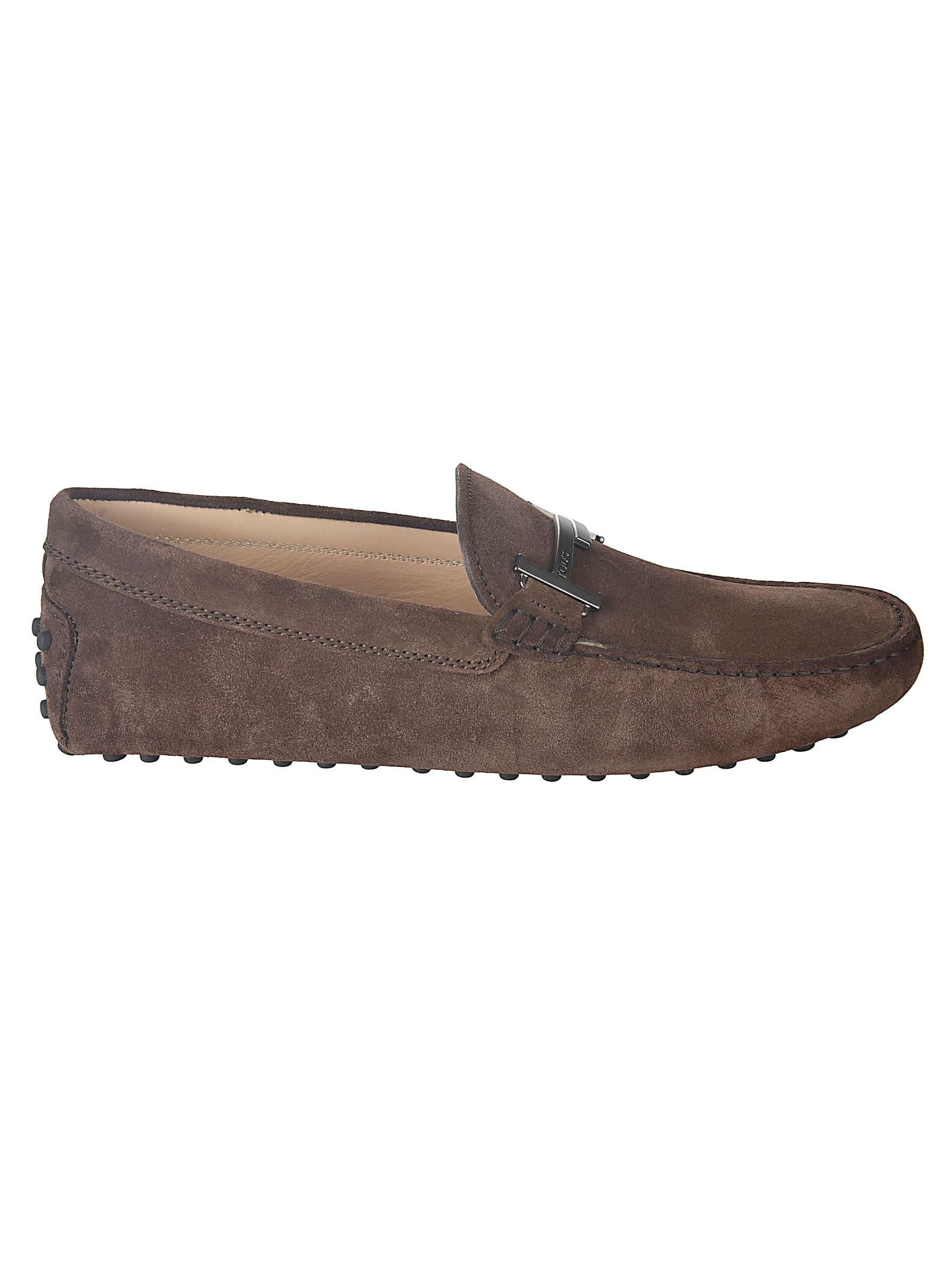 Tods Double-t Plaque Loafers